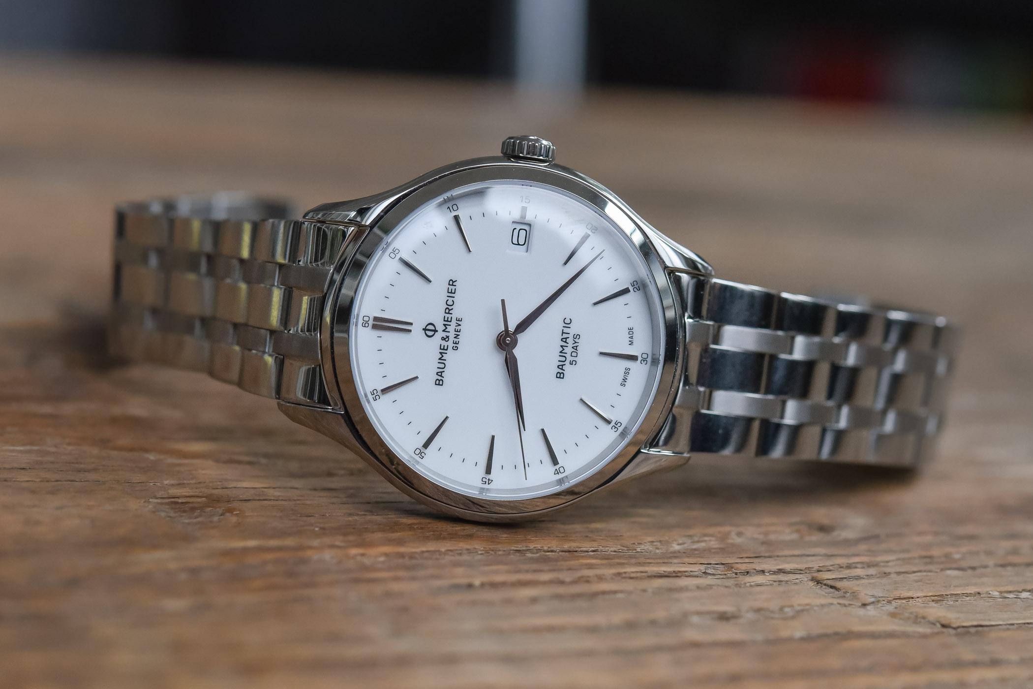 Baume Mercier Clifton Baumatic non-cosc steel bracelet 10400