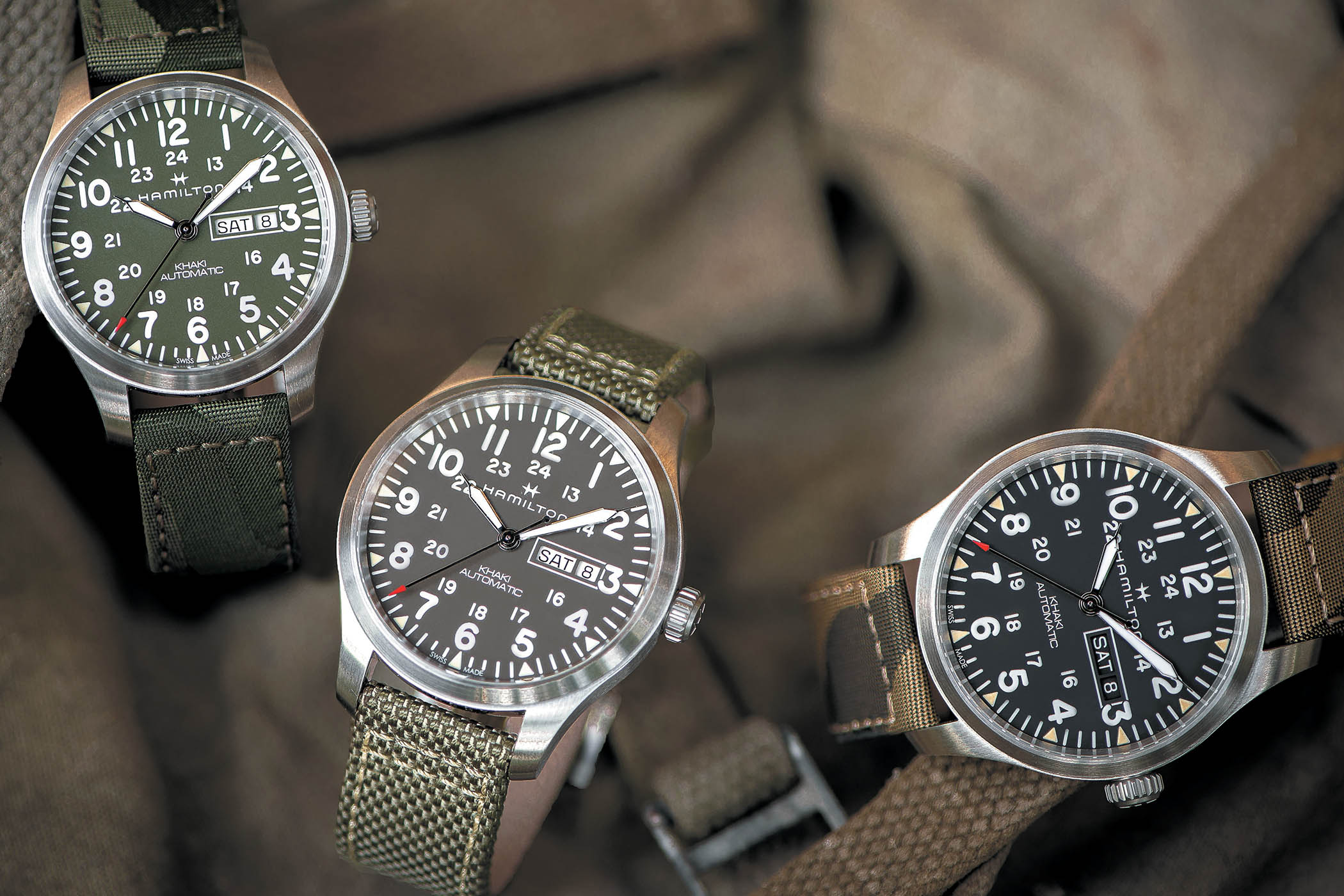 "Hamilton Khaki Field Day-Date 42mm ""Camouflage"" Automatic"