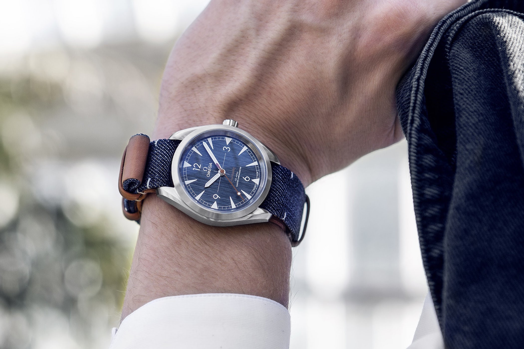 Omega Seamaster Railmaster Master Chronometer Denim Blue