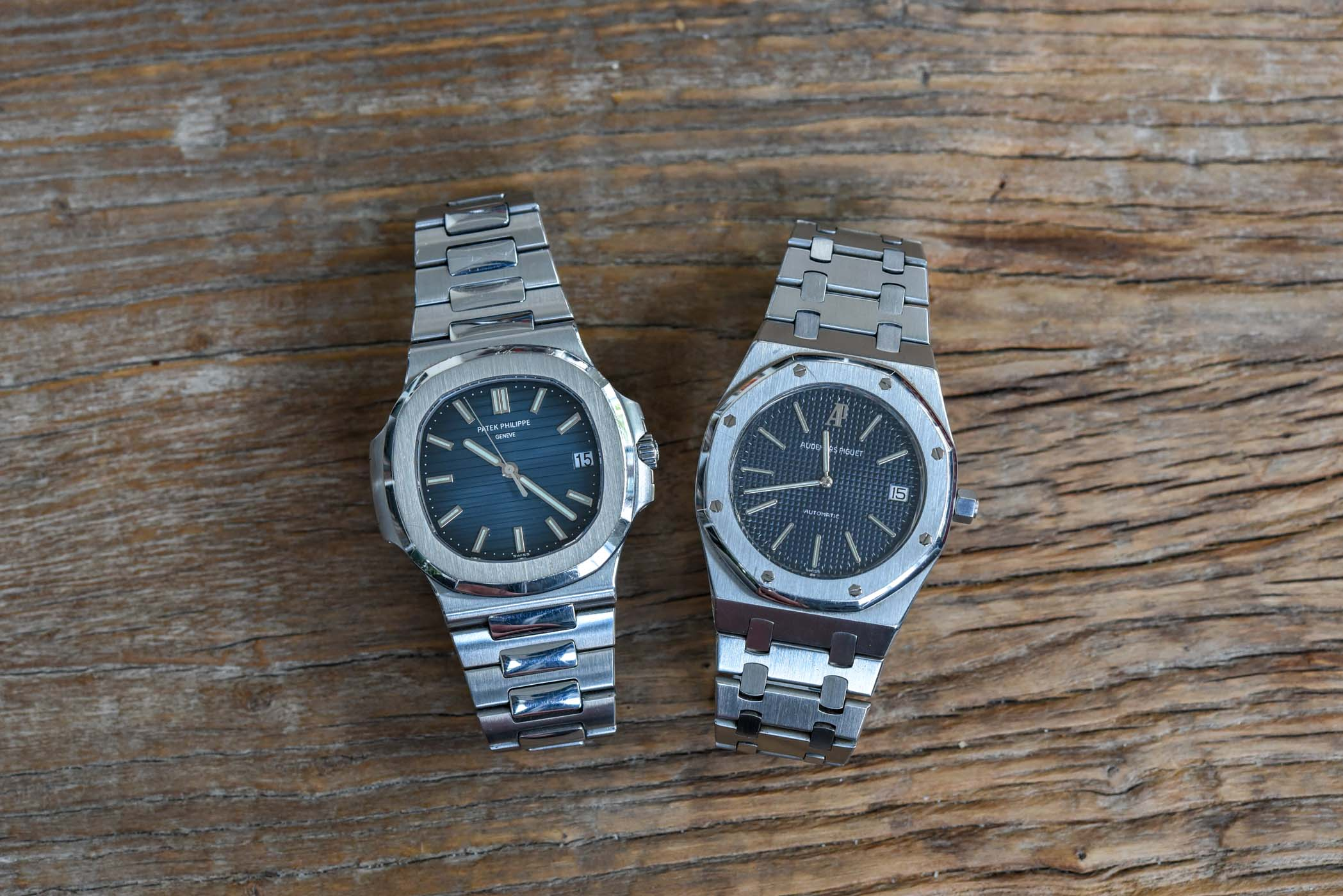 Patek Philippe Nautilus 5711 and Audemars Piguet Royal Oak 5402