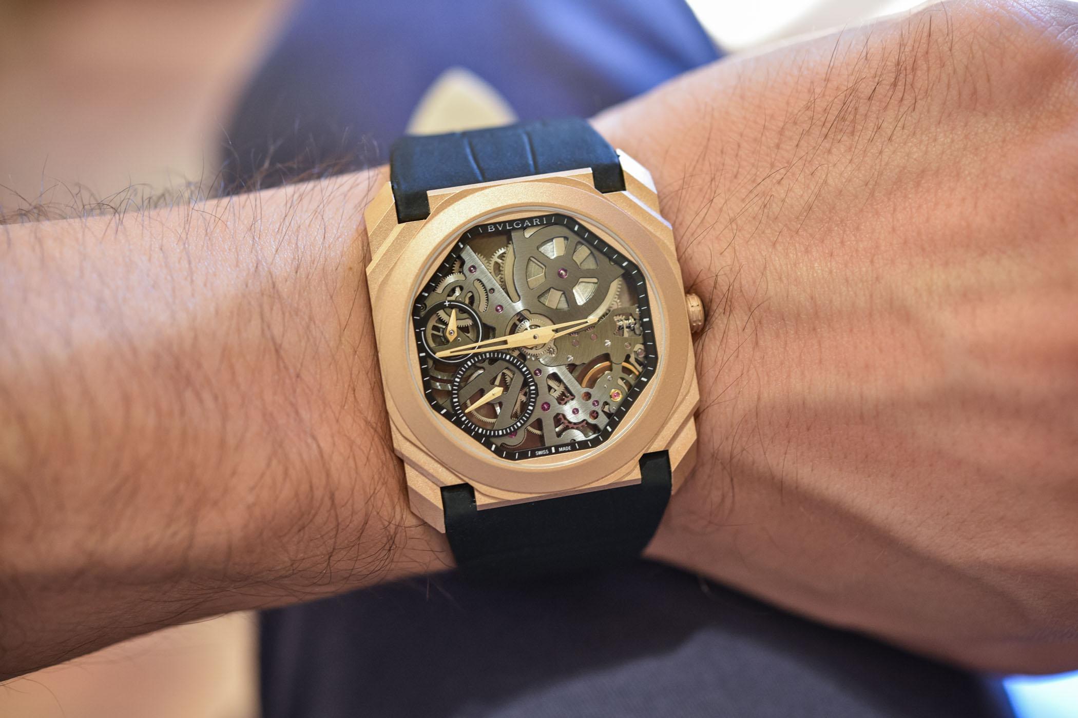 Bulgari Octo Finissimo Skeleton Sandblasted Rose Gold 102946