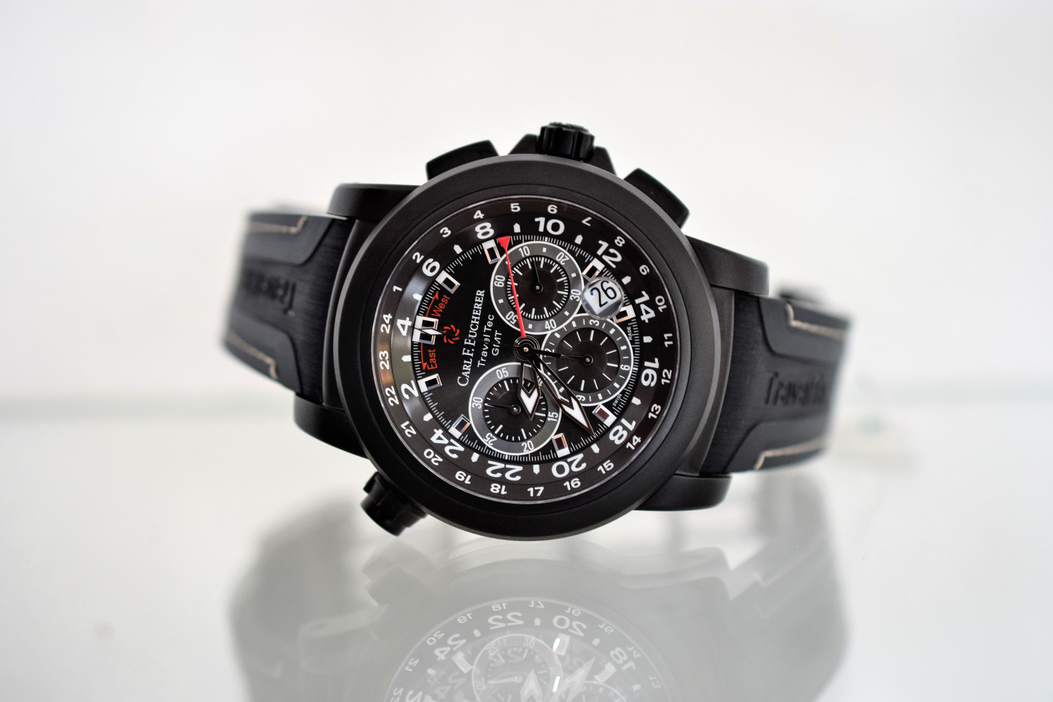 Carl F. Bucherer Patravi TravelTec Black GMT Chronograph