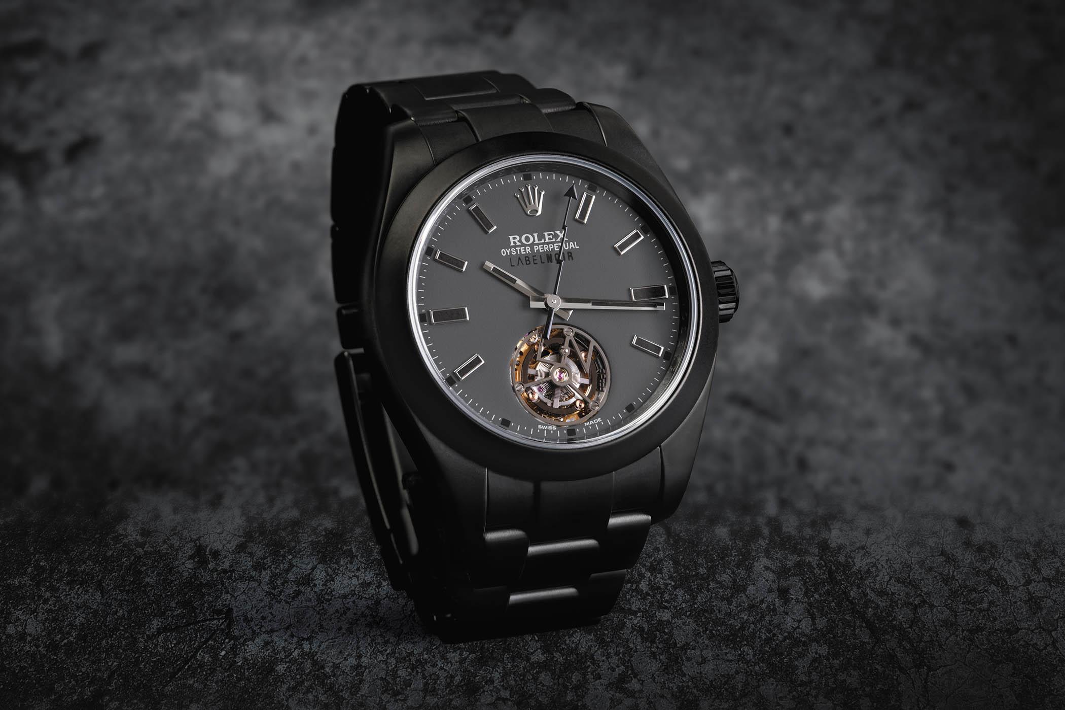 Rolex Tourbillon Milgauss modified Label Noir