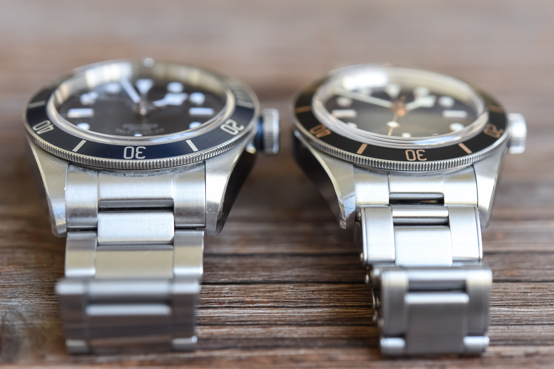 The Tudor Black Bay Fifty Eight 39mm Face To Face With The 41mm