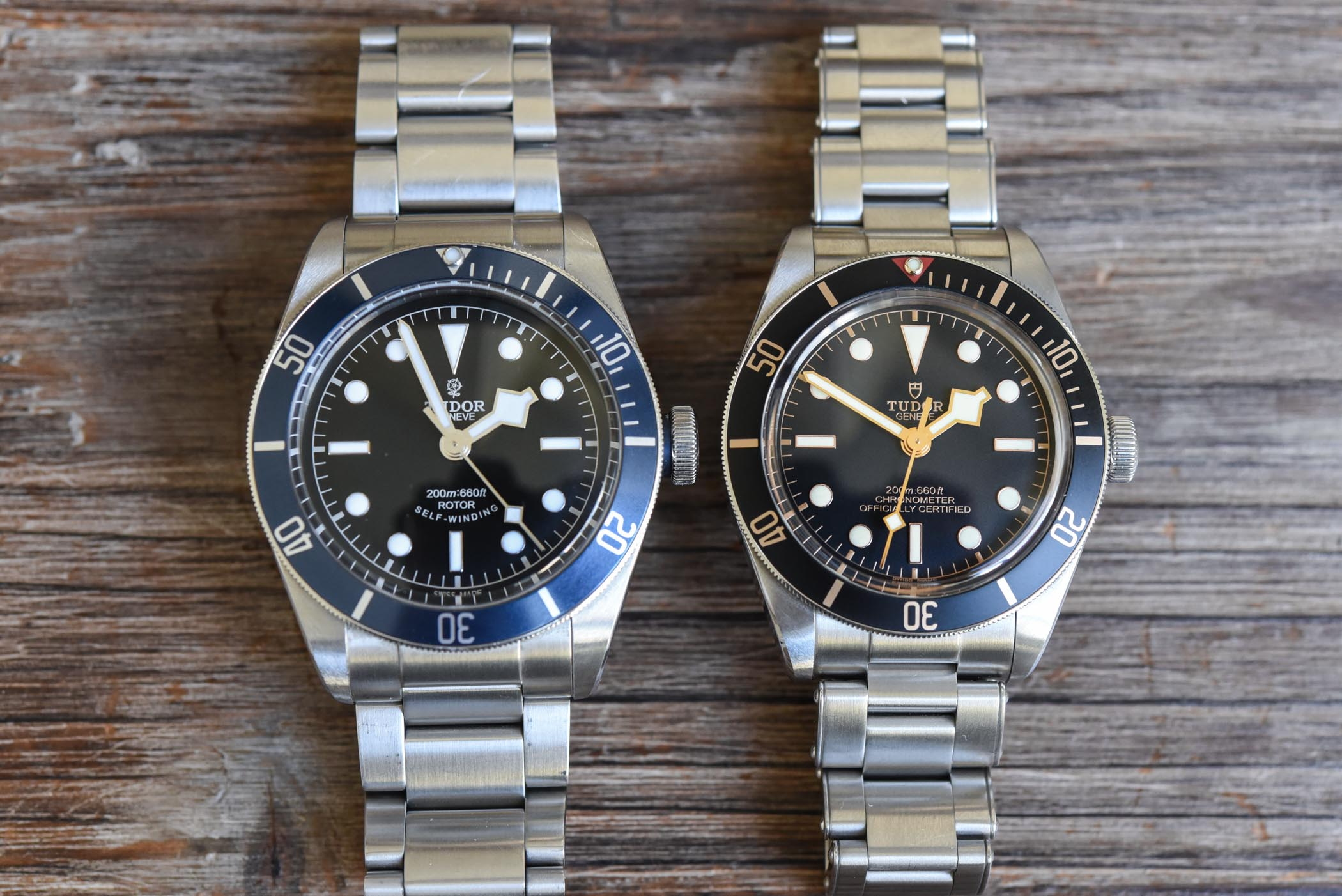 Tudor BB 58 vs BB Blue