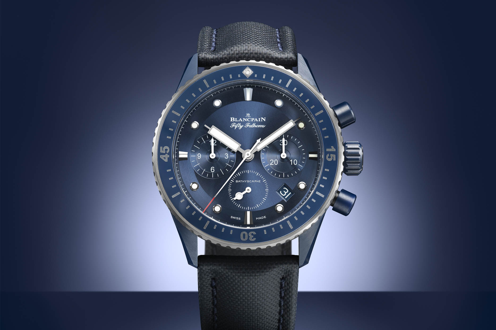 Blancpain Fifty Fathoms Bathyscaphe Bucherer Blue Edition