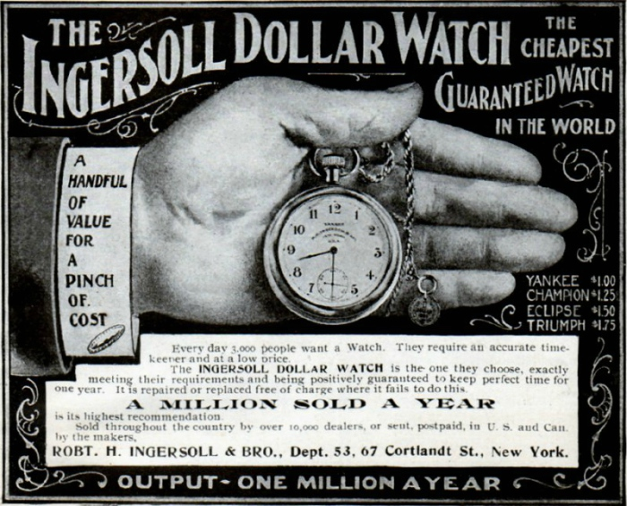 An early add for the Ingesoll Yankee Dollar pocket watch.