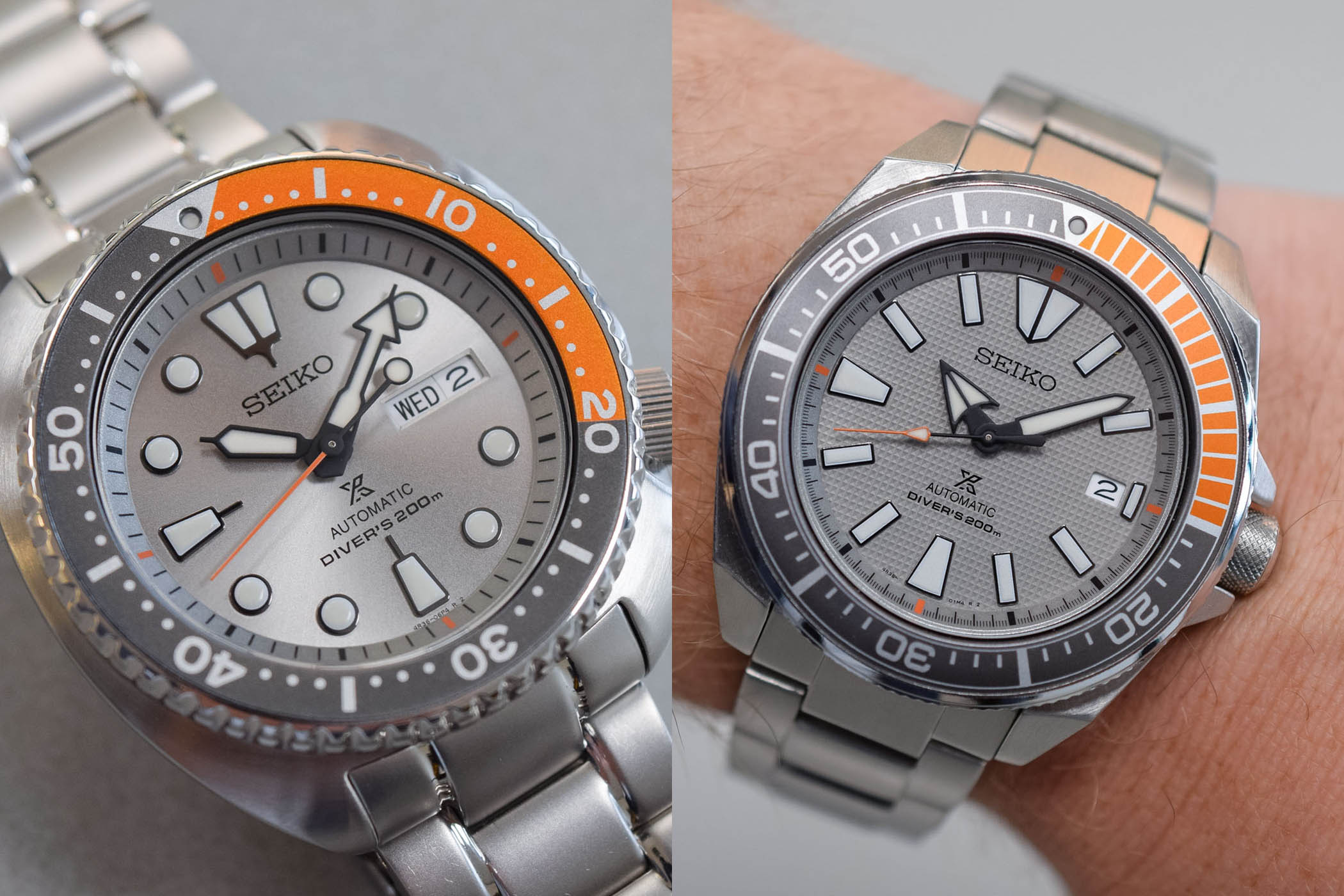 Seiko Prospex Dawn Grey Europe Limited Edition - Turtle SRPD01K1 - Samurai SRPD03K1