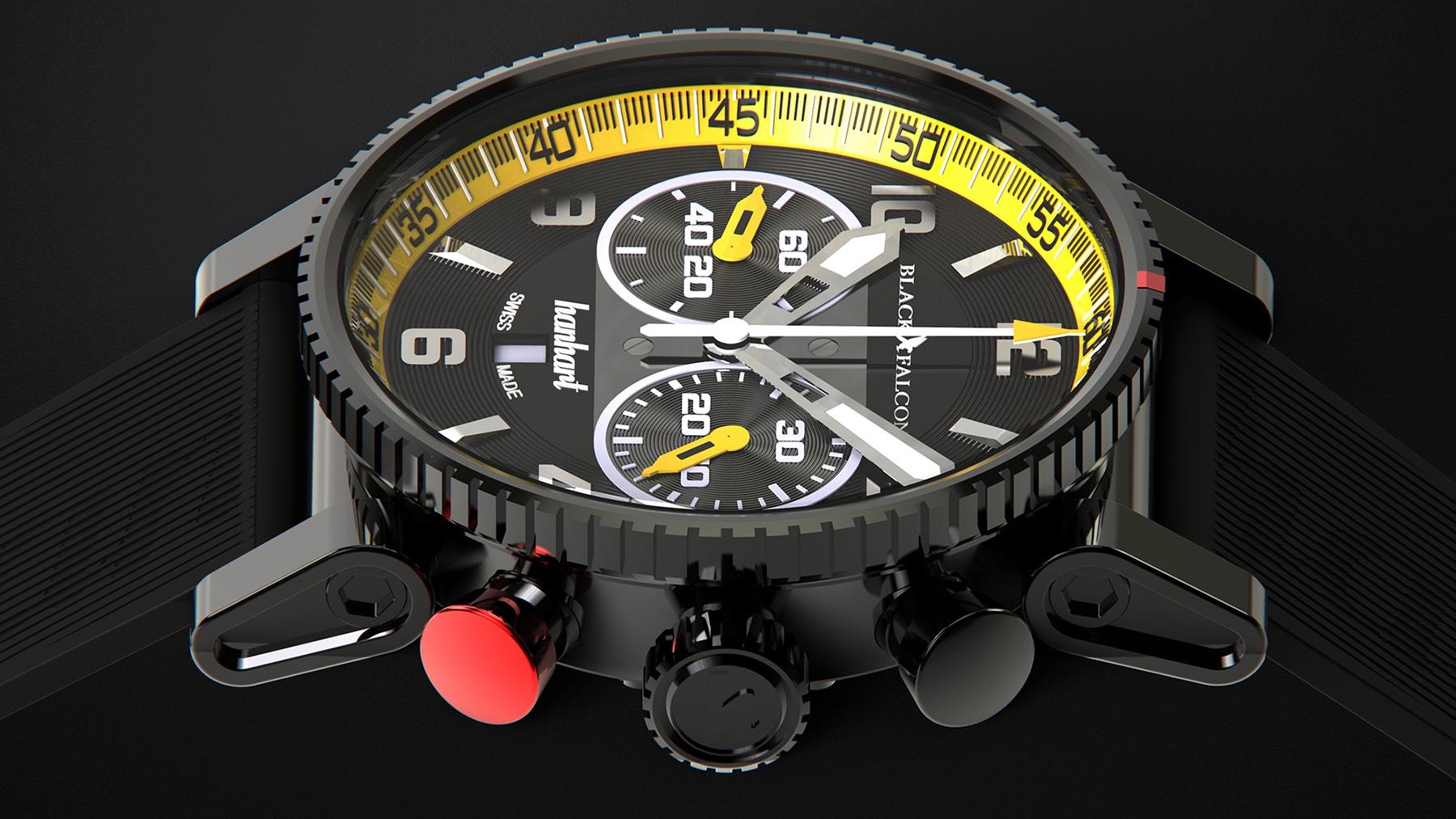 1ef79c98b42 Introducing - Hanhart Primus Black Falcon Limited Edition (Specs ...