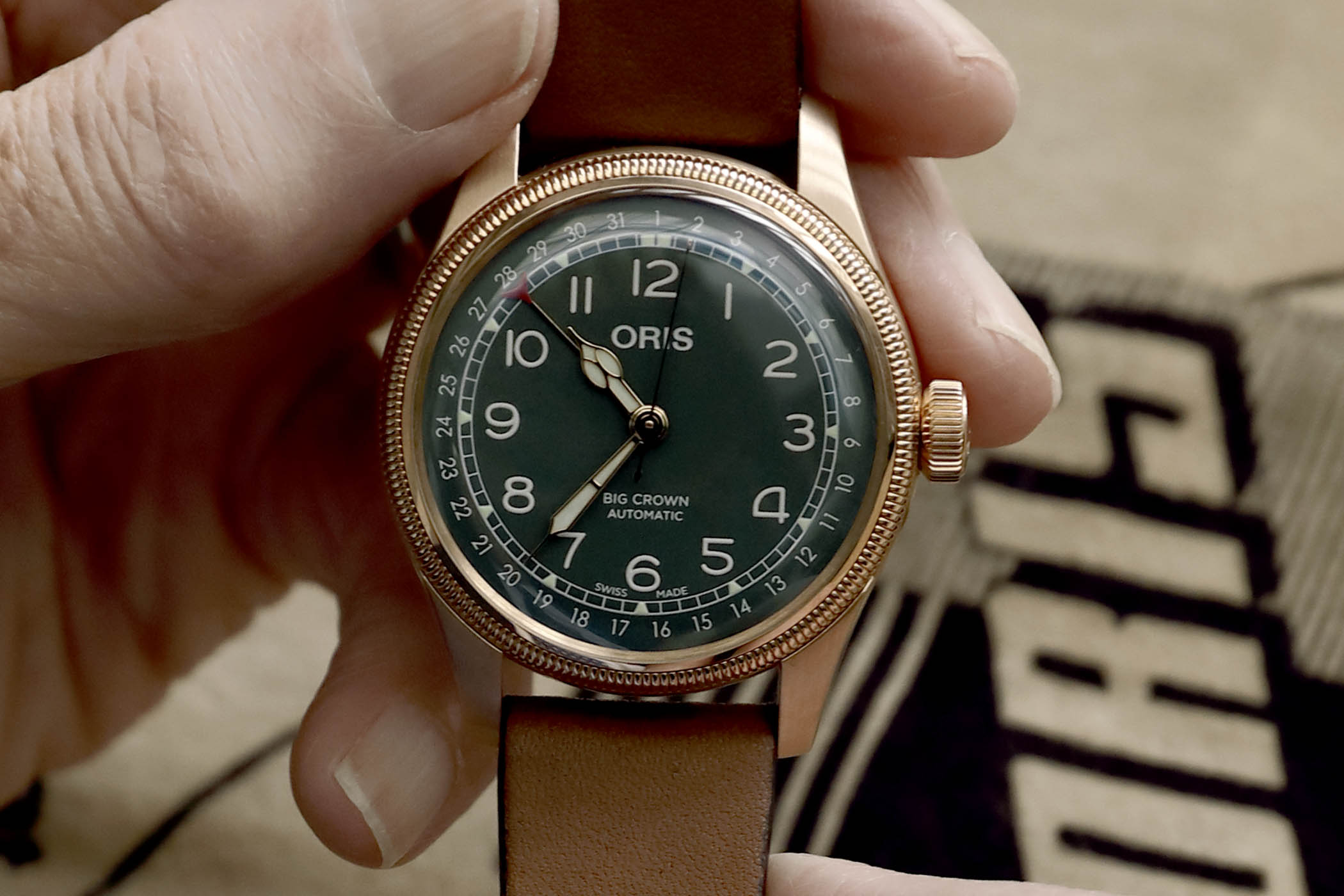 2b7326d1103 Introducing Oris Big Crown Pointer Date 80th Anniversary Edition 40mm Bronze