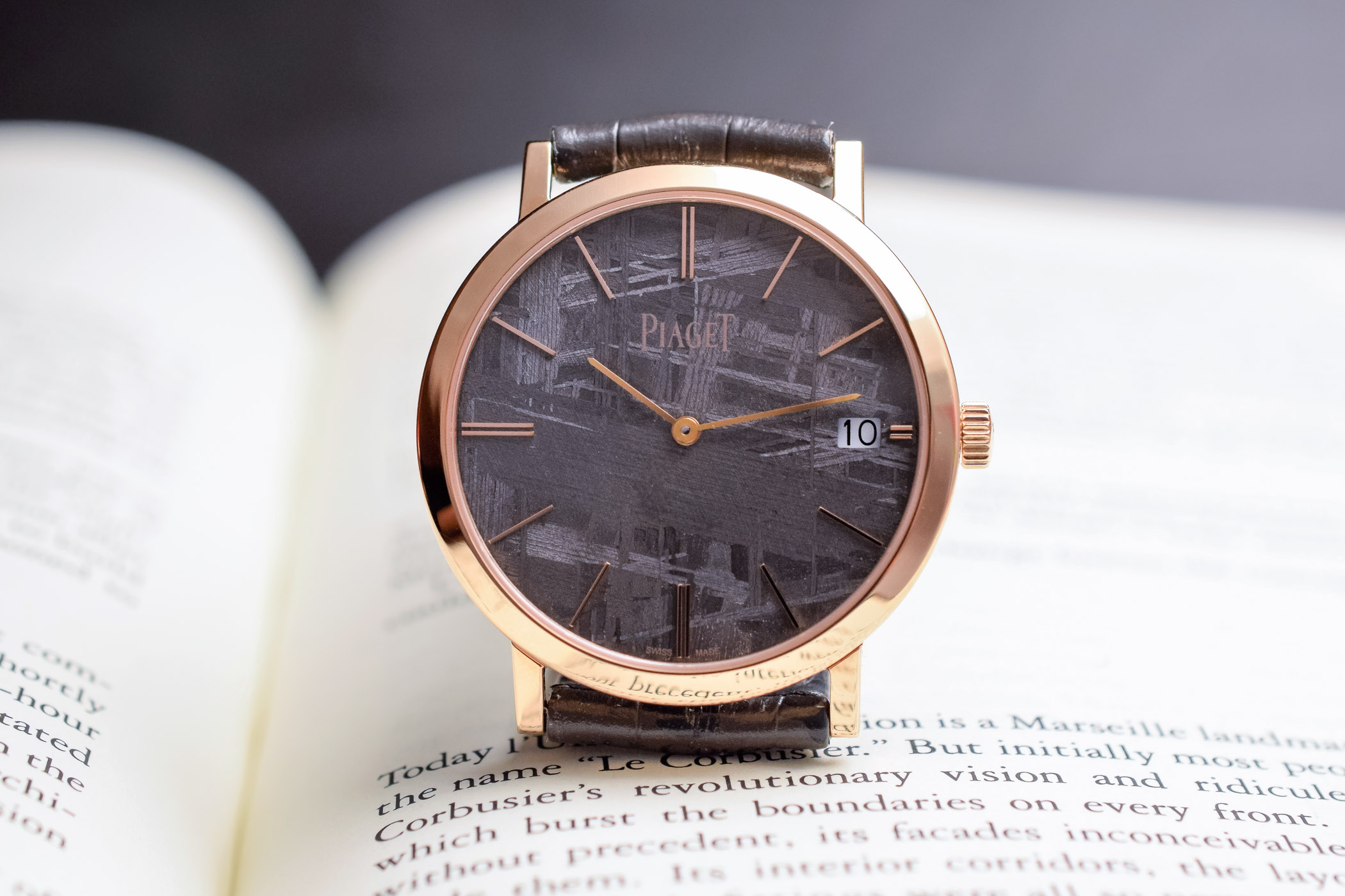 Piaget Altiplano 40mm pink gold Grey meteorite dial - SIHH 2019 - 7