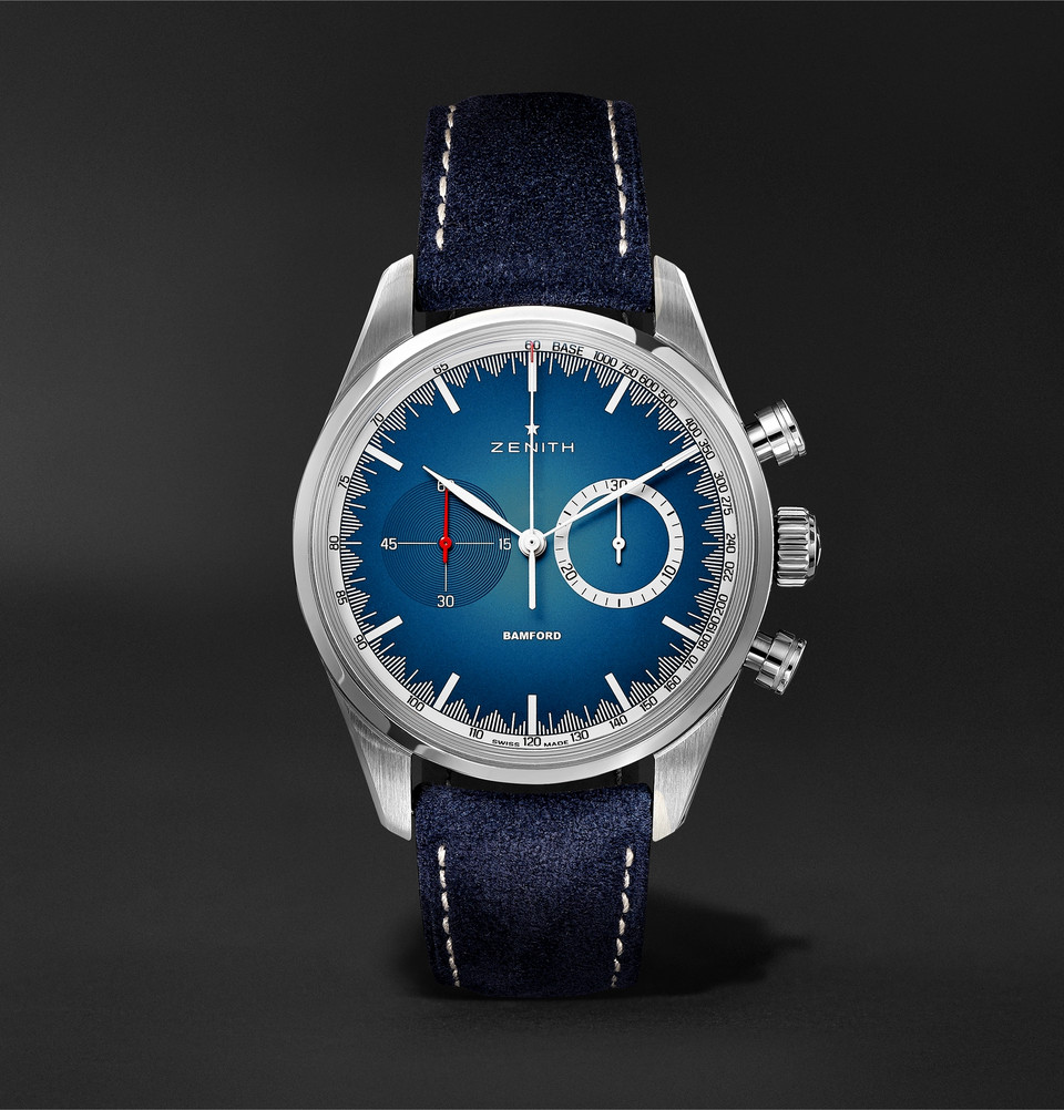 Zenith x Bamford Chronomaster El Primero Solar Blue Limited Edition for MR. PORTER- 1