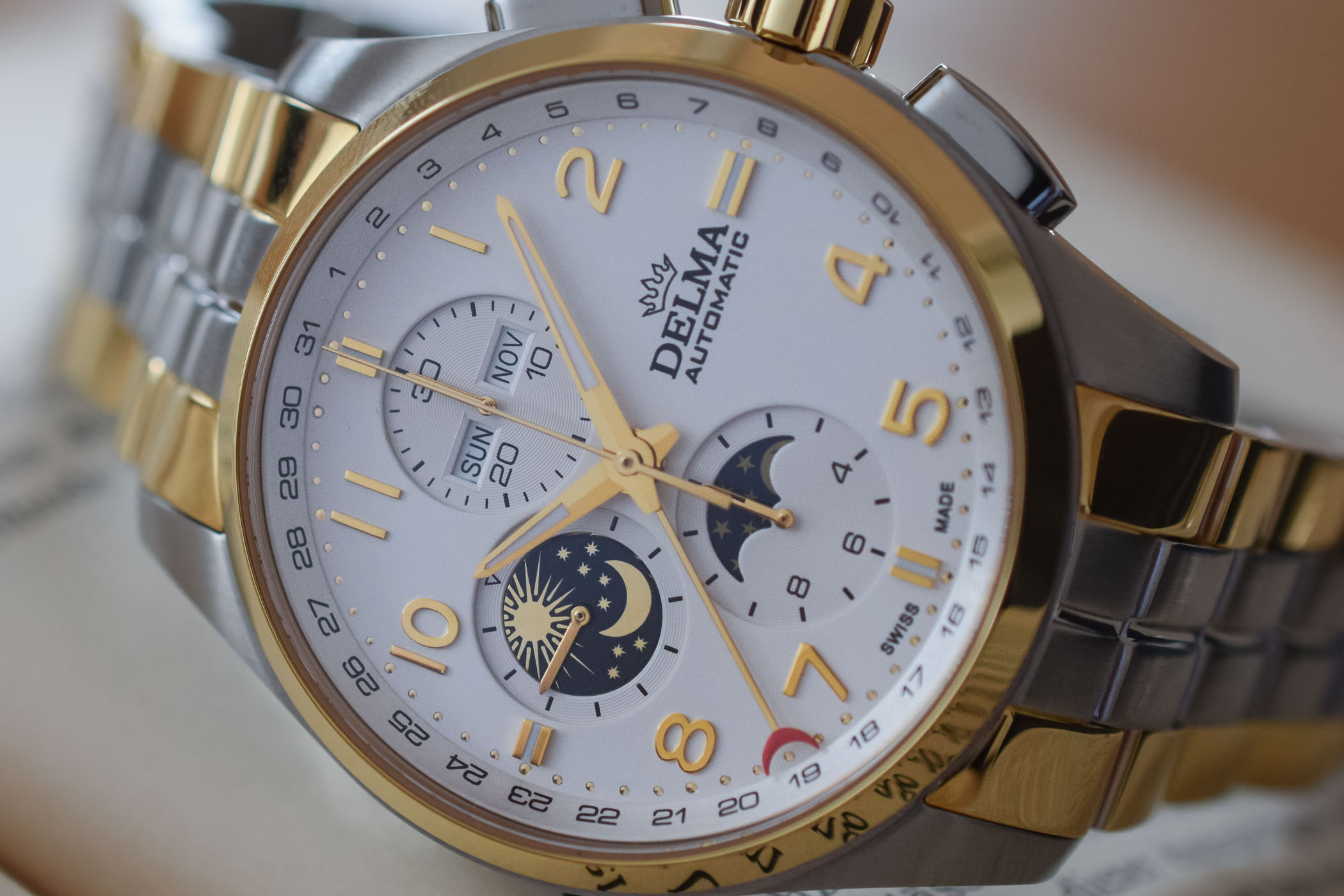 Delma Klondike Moonphase Automatic Chronograph - 3