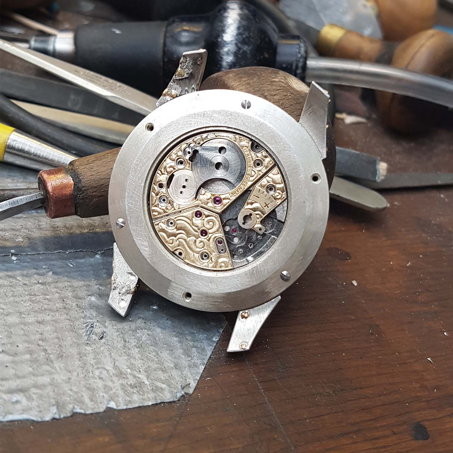 Hand-Engraved Kees Engelbarts Organic Skeleton Ref 1867 - making of - 1