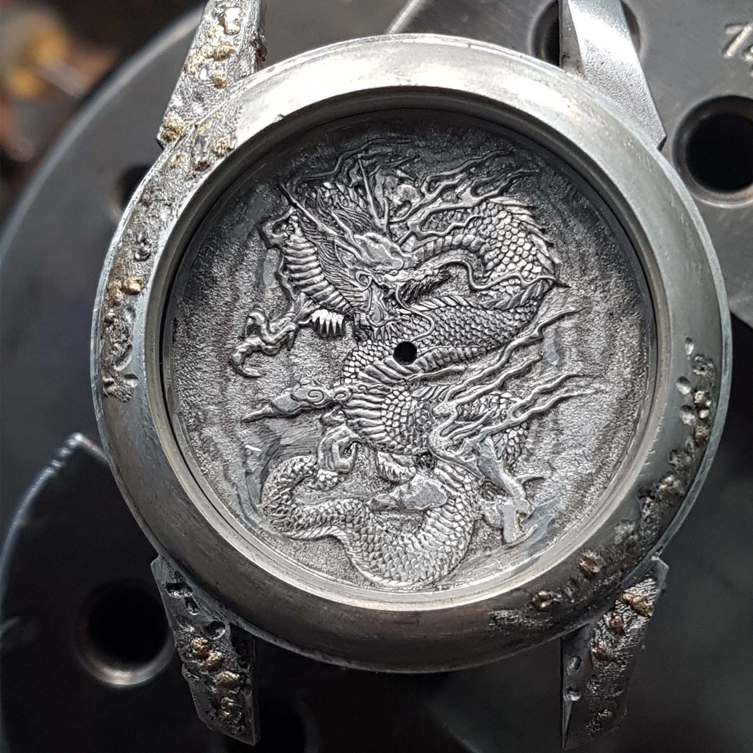 Hand-Engraved Kees Engelbarts Organic Skeleton Ref 1867 - making of - 11