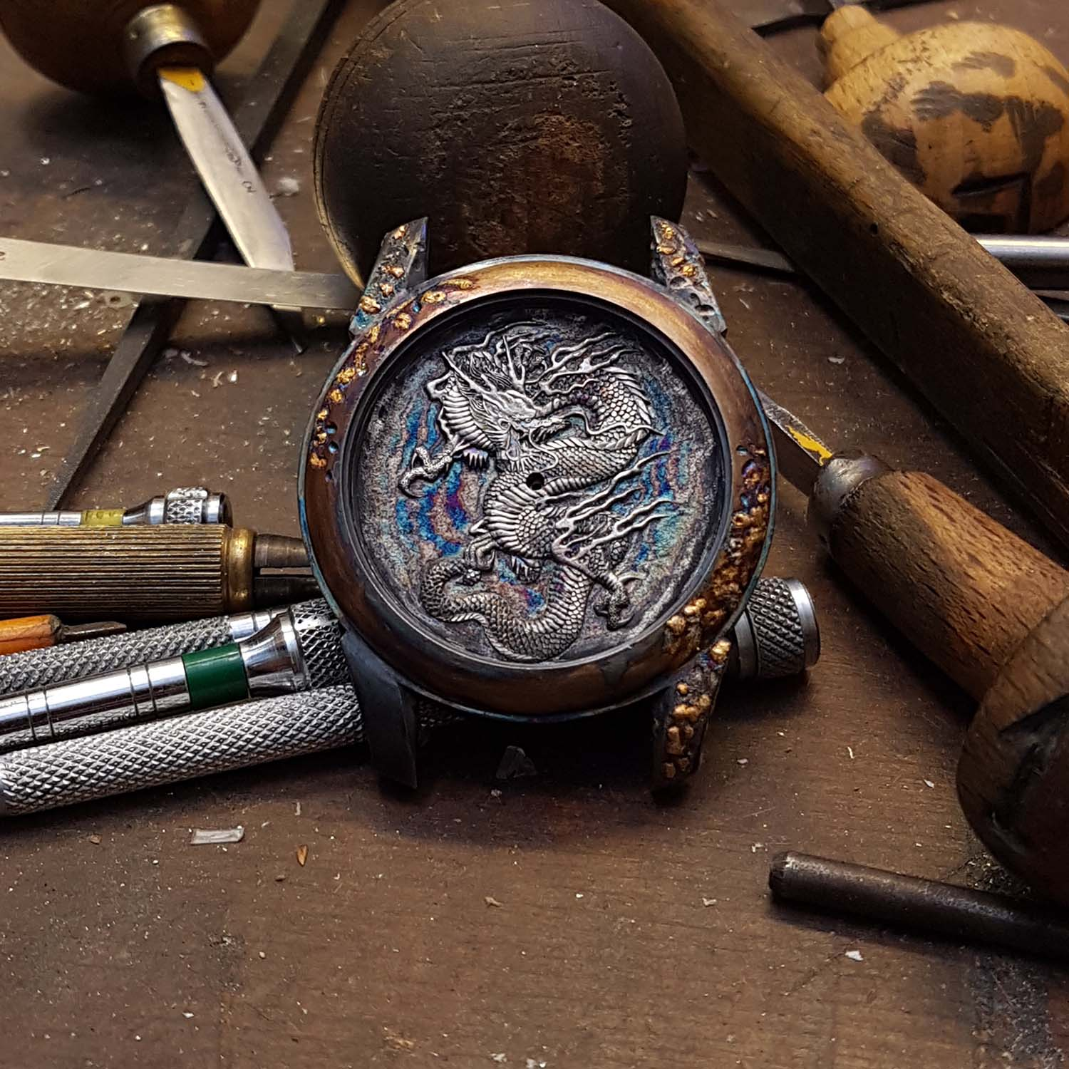 Hand-Engraved Kees Engelbarts Organic Skeleton Ref 1867 - making of - 4