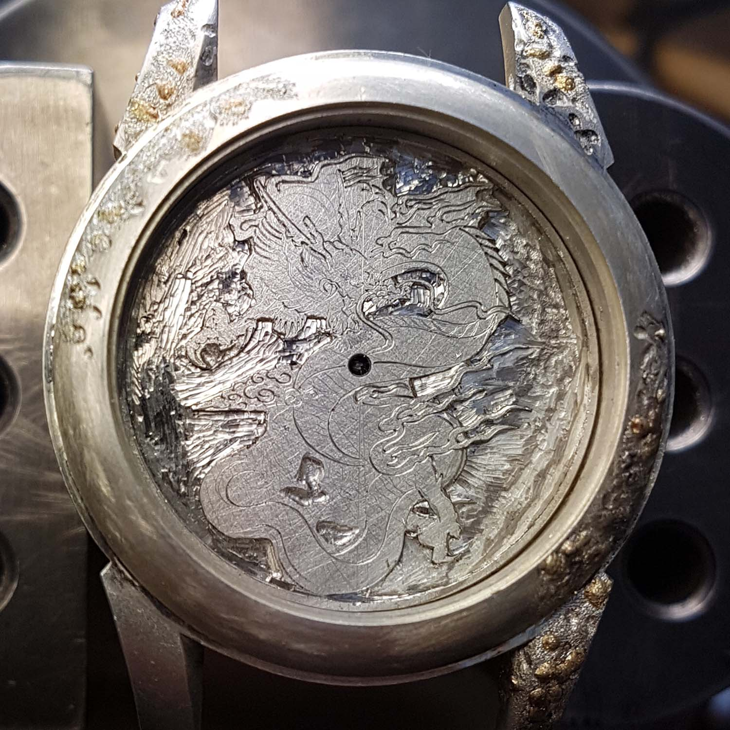 Hand-Engraved Kees Engelbarts Organic Skeleton Ref 1867 - making of - 9