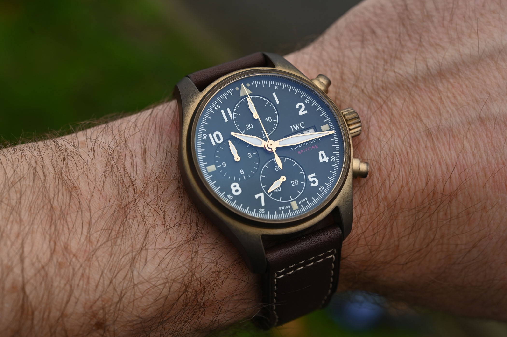 IWC Pilots Watch Chronograph Spitfire Bronze IW387902 - SIHH 2019