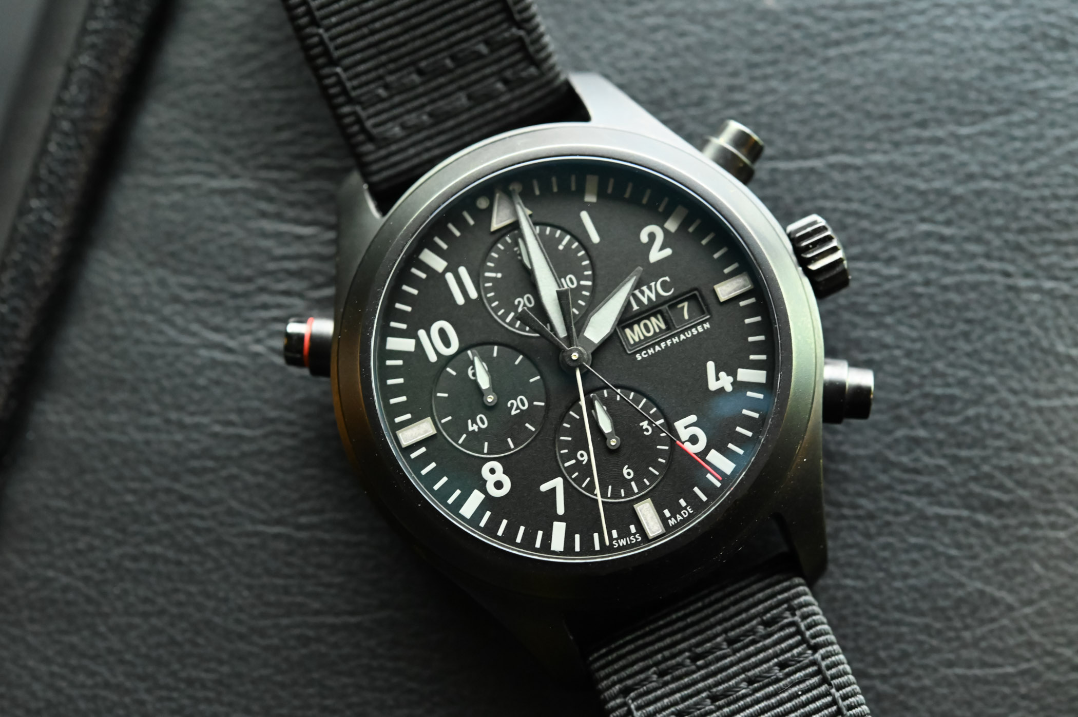 41c028a2d As part of the pre-SIHH 2019 launches, IWC is unveiling this all-black  rattrapante/split-seconds/ double chronograph/DoppelChronograph (choose  your ...