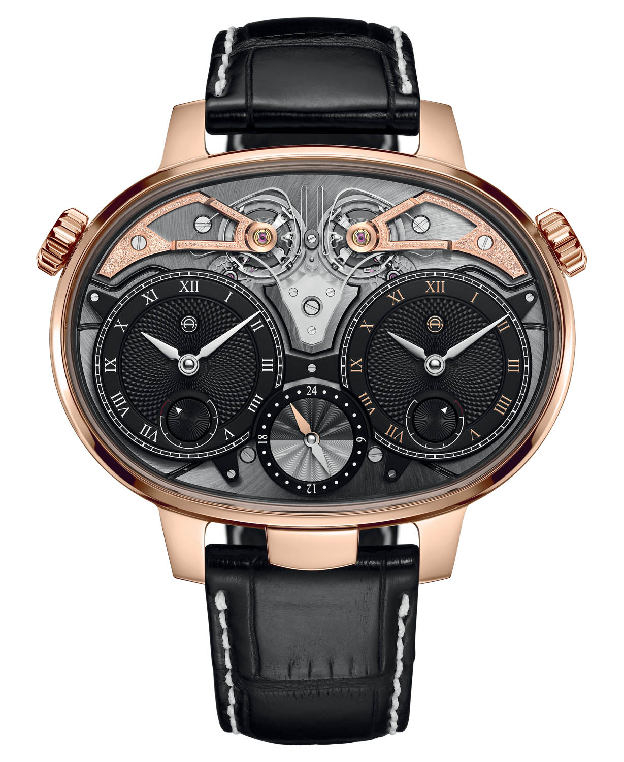 Pre-SIHH 2019 - Armin Strom GMT Resonance Rose and White Gold - 5