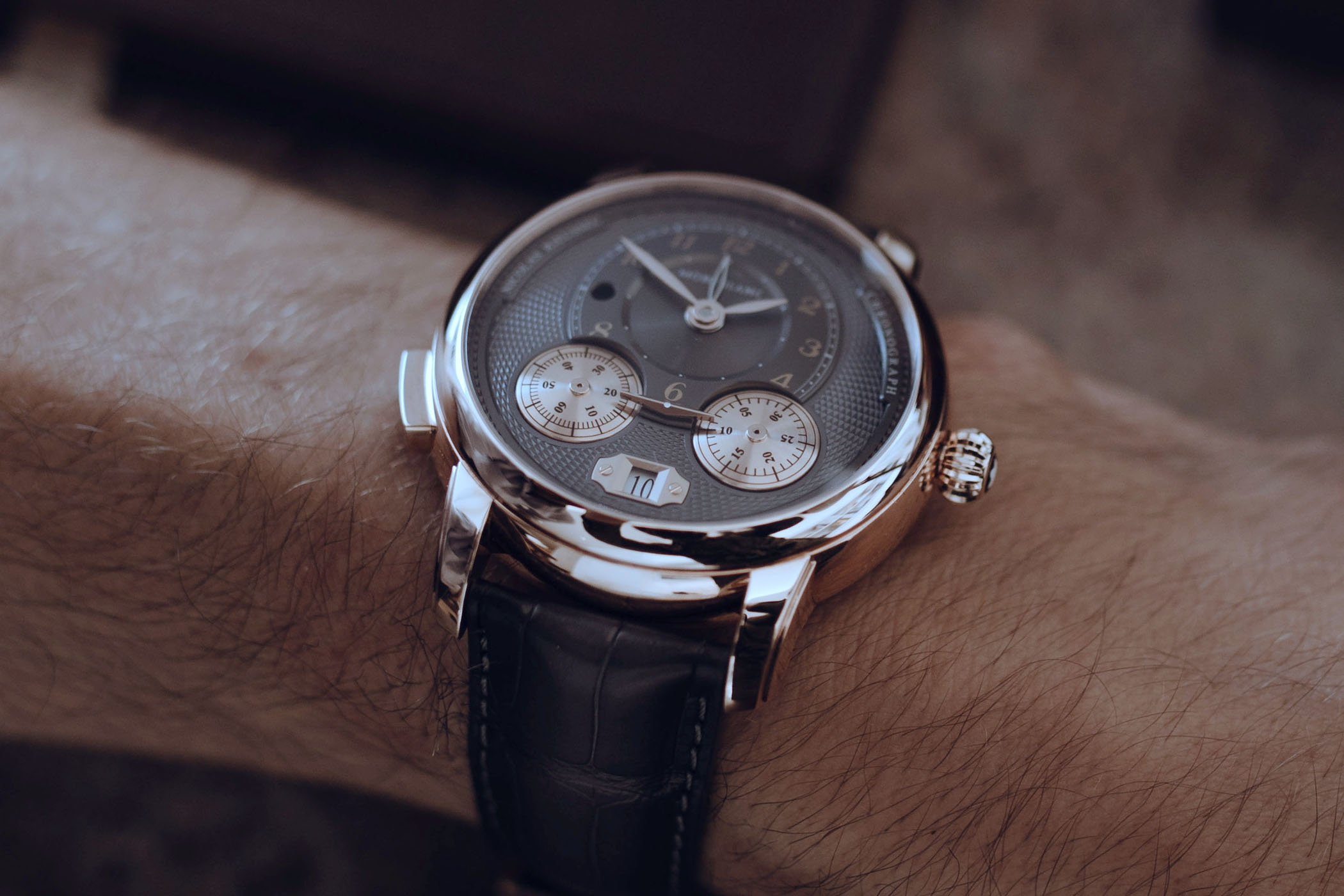Pre SIHH 2019 - Montblanc Star Legacy Nicolas Rieussec Anthracite dial - 1