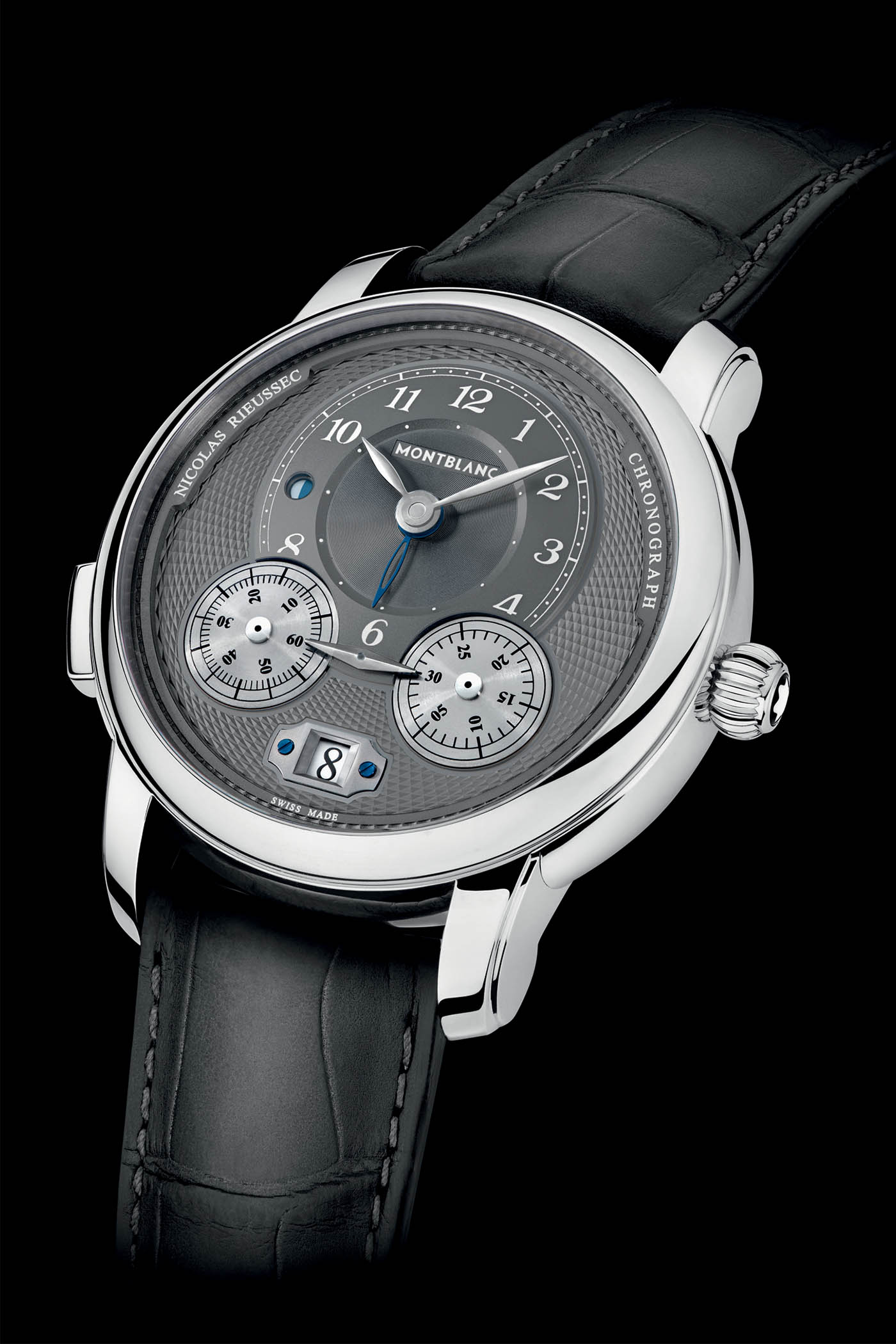 Pre SIHH 2019 - Montblanc Star Legacy Nicolas Rieussec Anthracite dial - 4