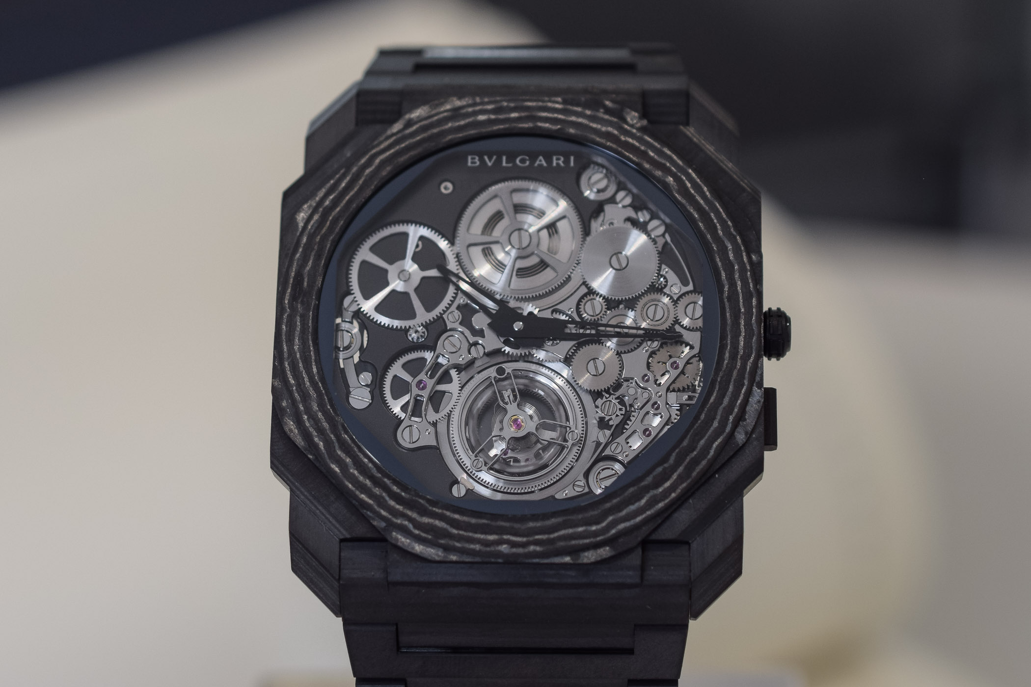 Bvlgari Octo Finissimo Tourbillon Automatic now in Carbon - SIHH 2019 - 14