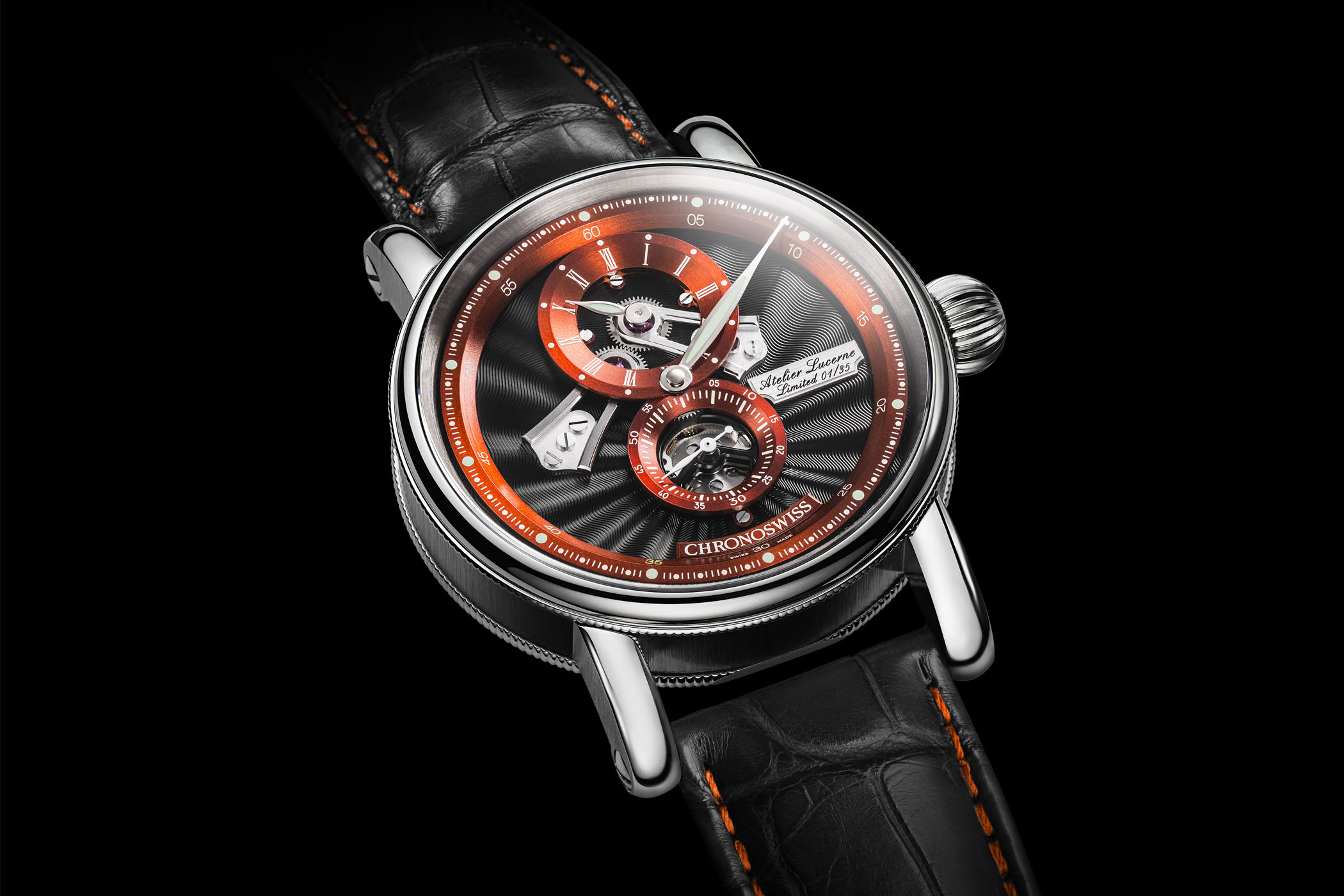 Chronoswiss Flying Regulator Open Gear Anniversary Edition 2019 Orange and Blue