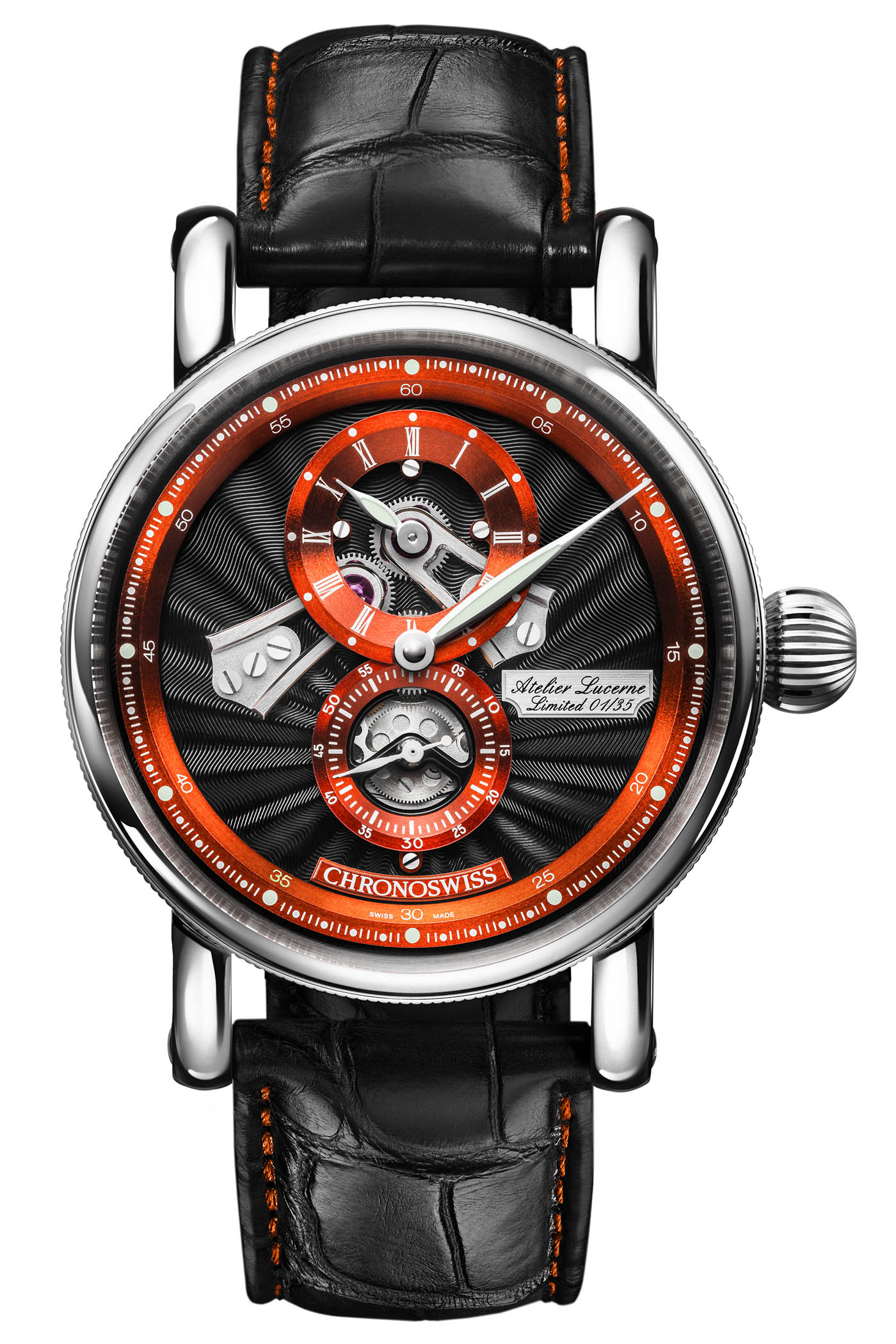 Chronoswiss Flying Regulator Open Gear Anniversary Edition Orange CH-8753-BKOR - 2