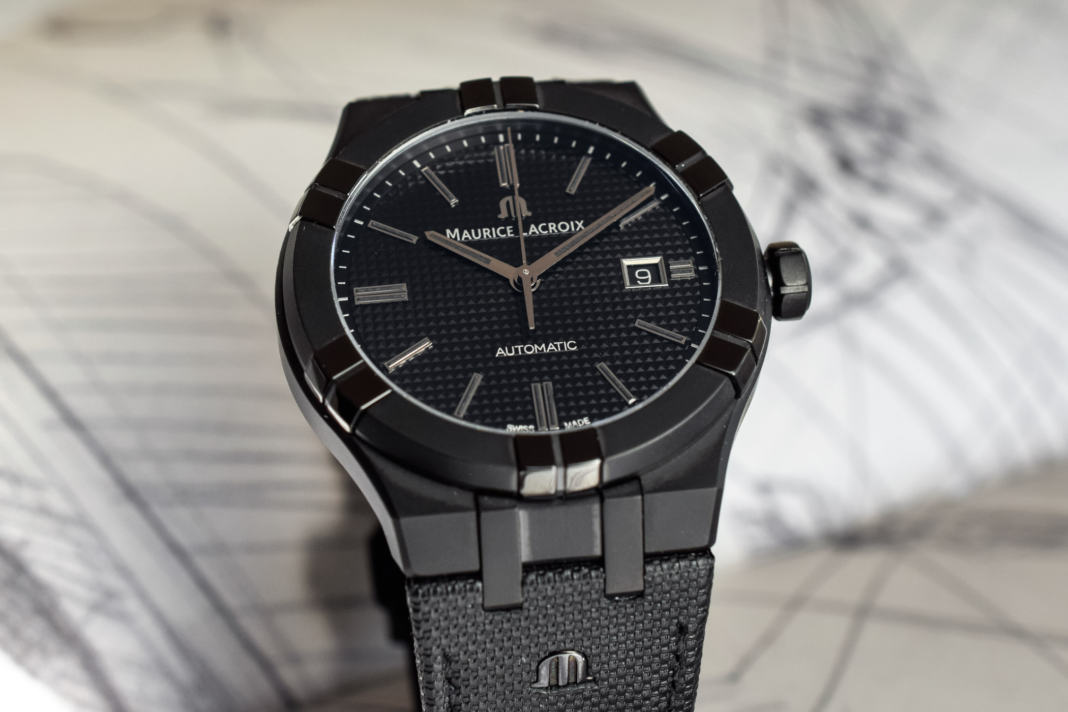 Maurice Lacroix Aikon Automatic All-Black - Geneva Watch Week 2019 - 4