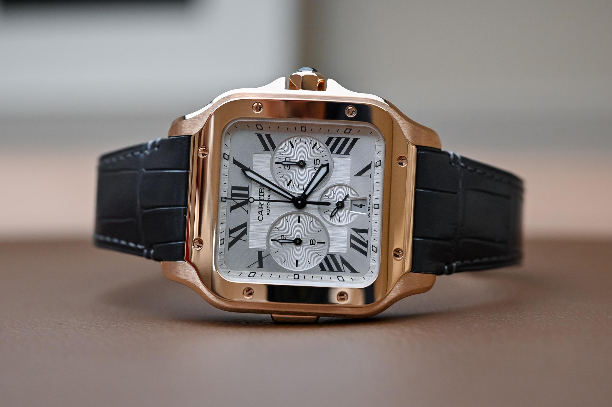c3bcc87327a5f Hands-On Review - Santos de Cartier Chronograph (SIHH 2019, Specs ...