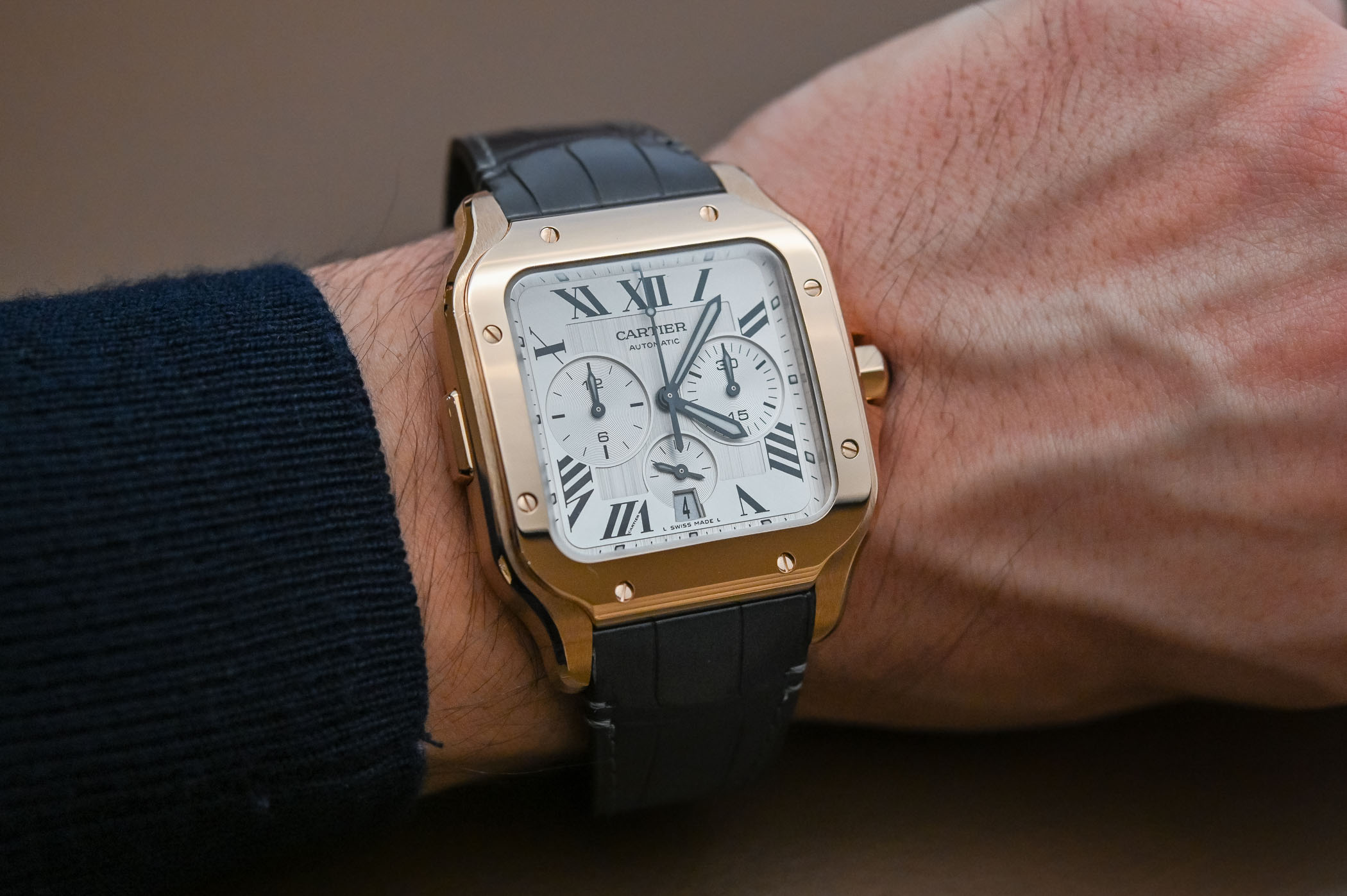 Hands On Review Santos De Cartier Chronograph Sihh 2019