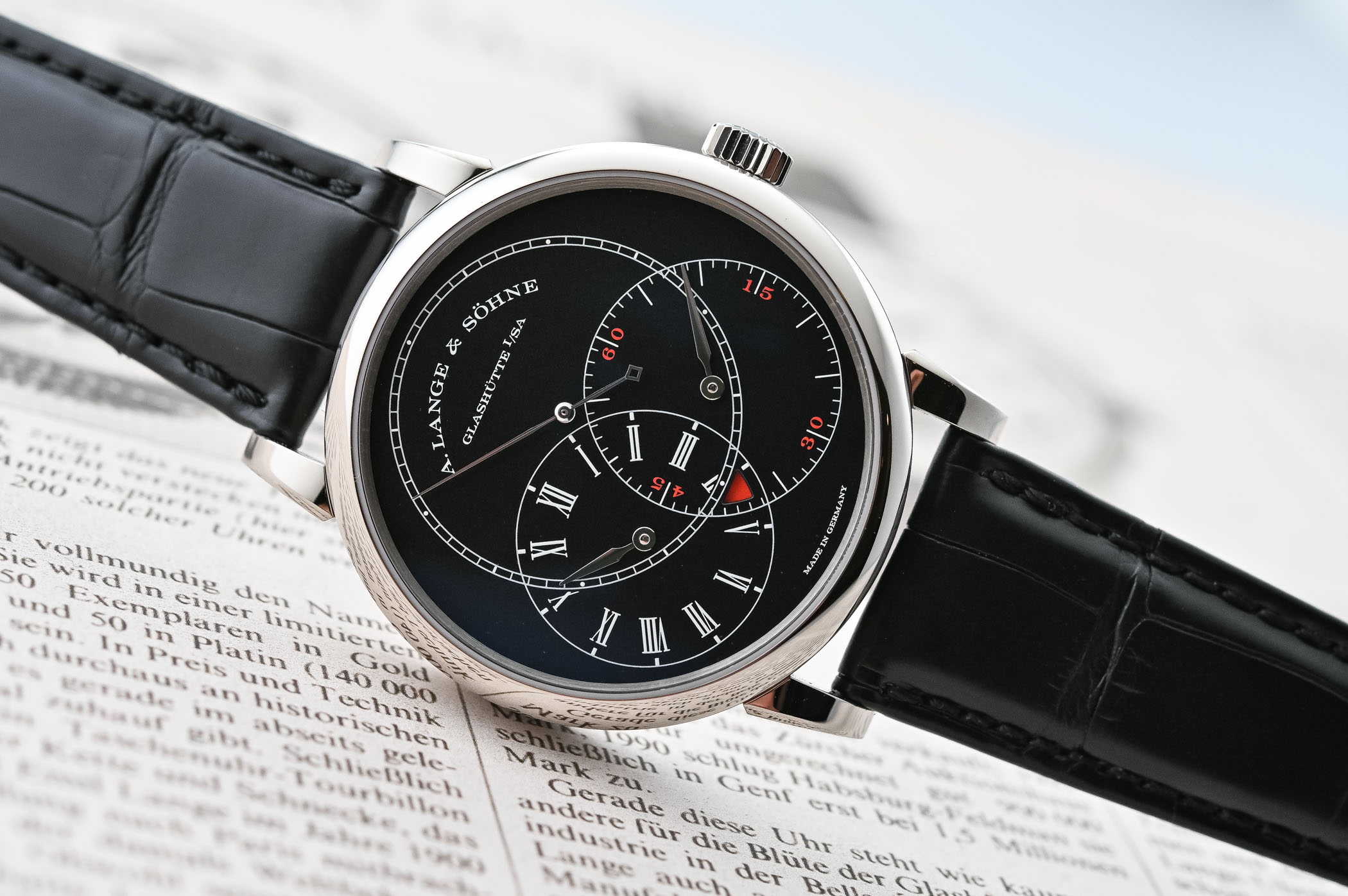 A Lange Sohne Richard Lange Jumping Seconds White Gold and Black Dial - SIHH 2019 - review - 11