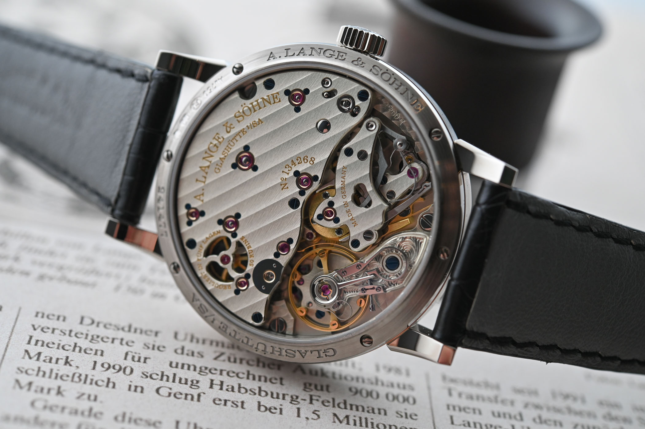A Lange Sohne Richard Lange Jumping Seconds White Gold and Black Dial - SIHH 2019 - review - 4