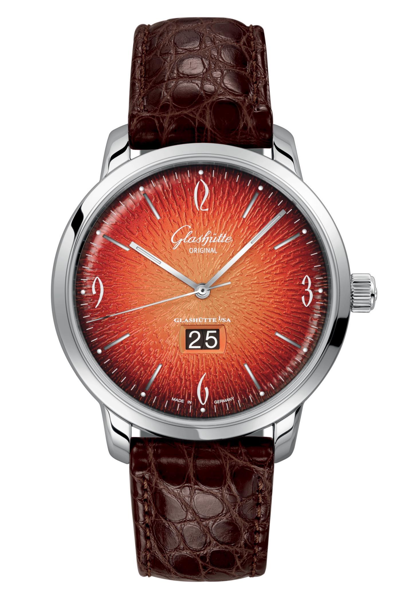 Glashutte Original Sixties and Sixties Panorama Date Annual Edition Fiery Orange - 6