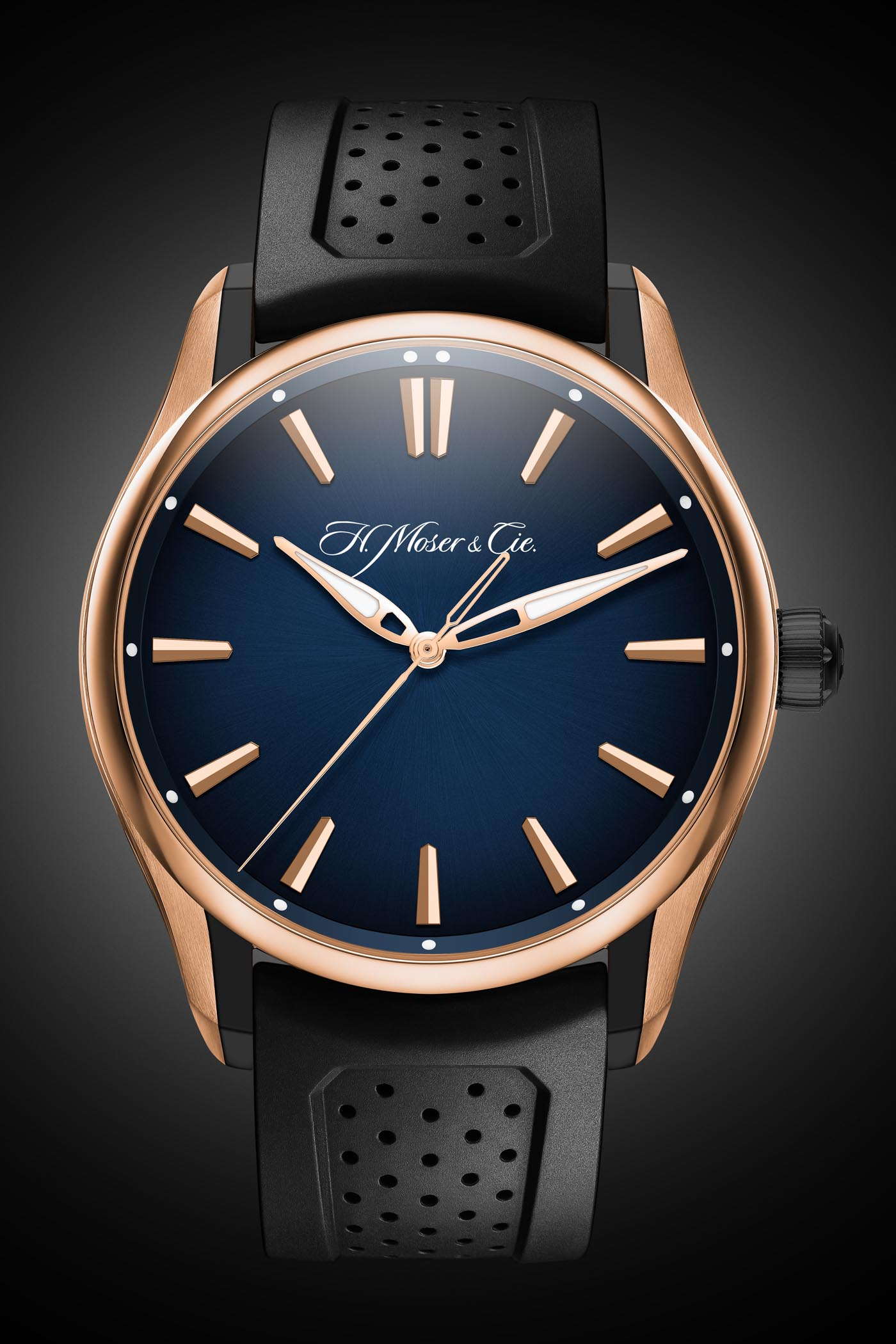 H Moser Cie Pioneer Centre Seconds Red Gold-DLC Case and Blue Fume Dial - 2