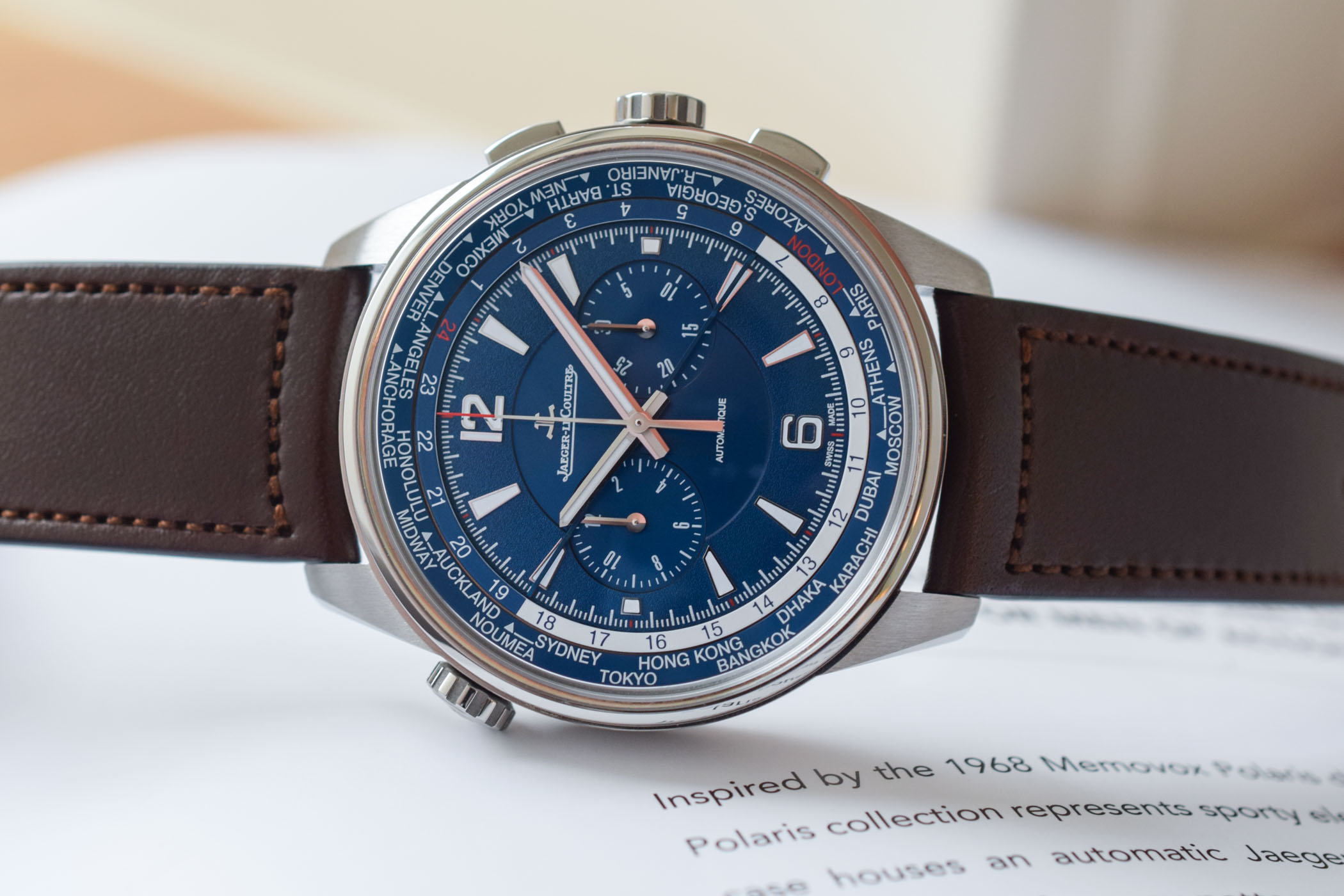 Jaeger-LeCoultre Polaris Chronograph WorldTimer - Review - 11