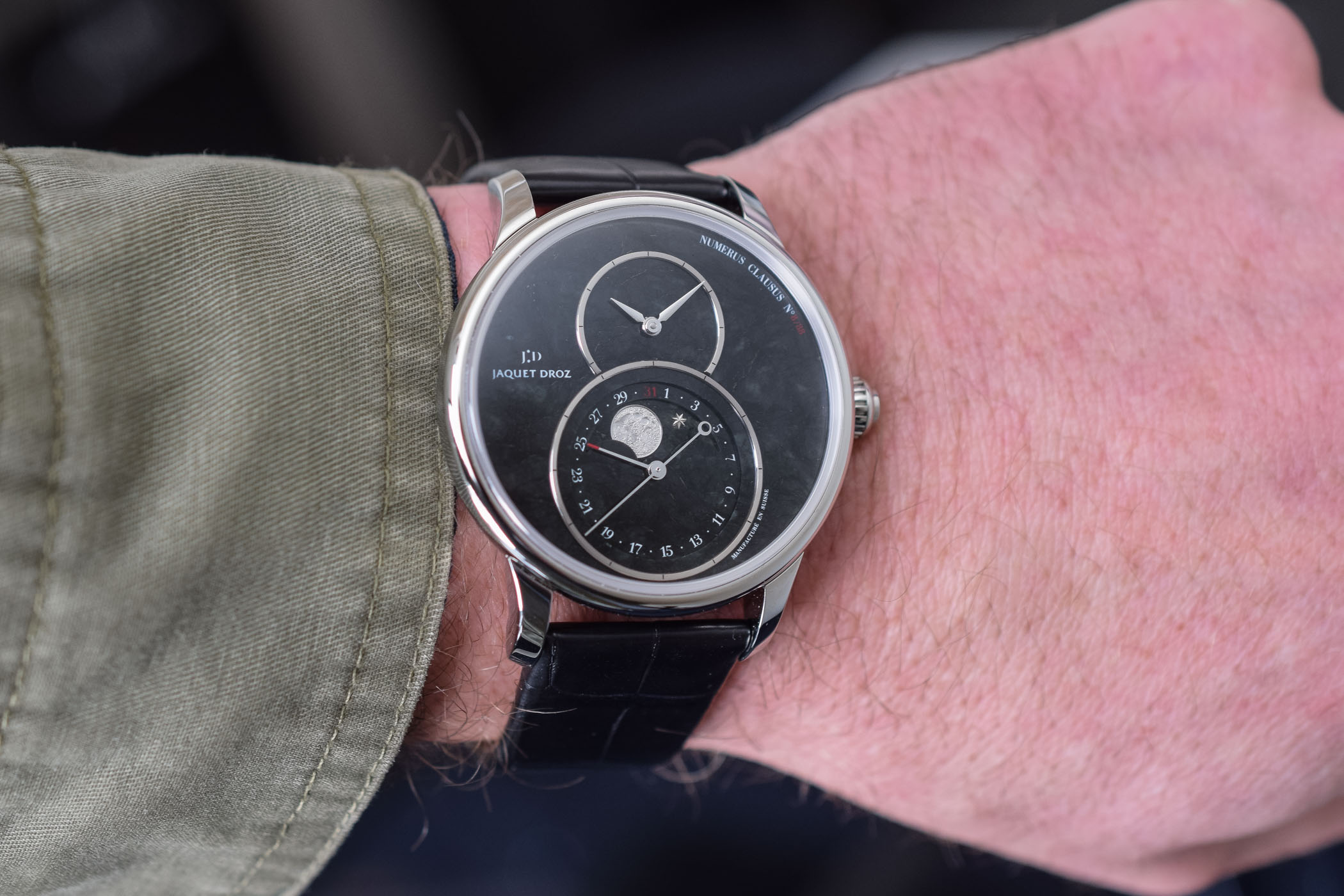 Jaquet Droz Grande Seconde Moon Swiss Serpentinite - 5