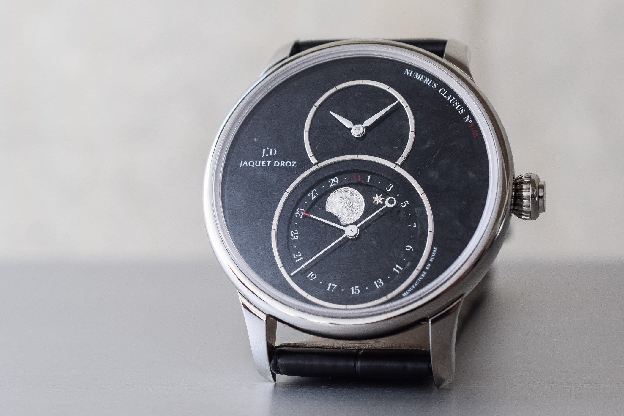 Jaquet Droz Grande Seconde Moon Swiss Serpentinite - 7