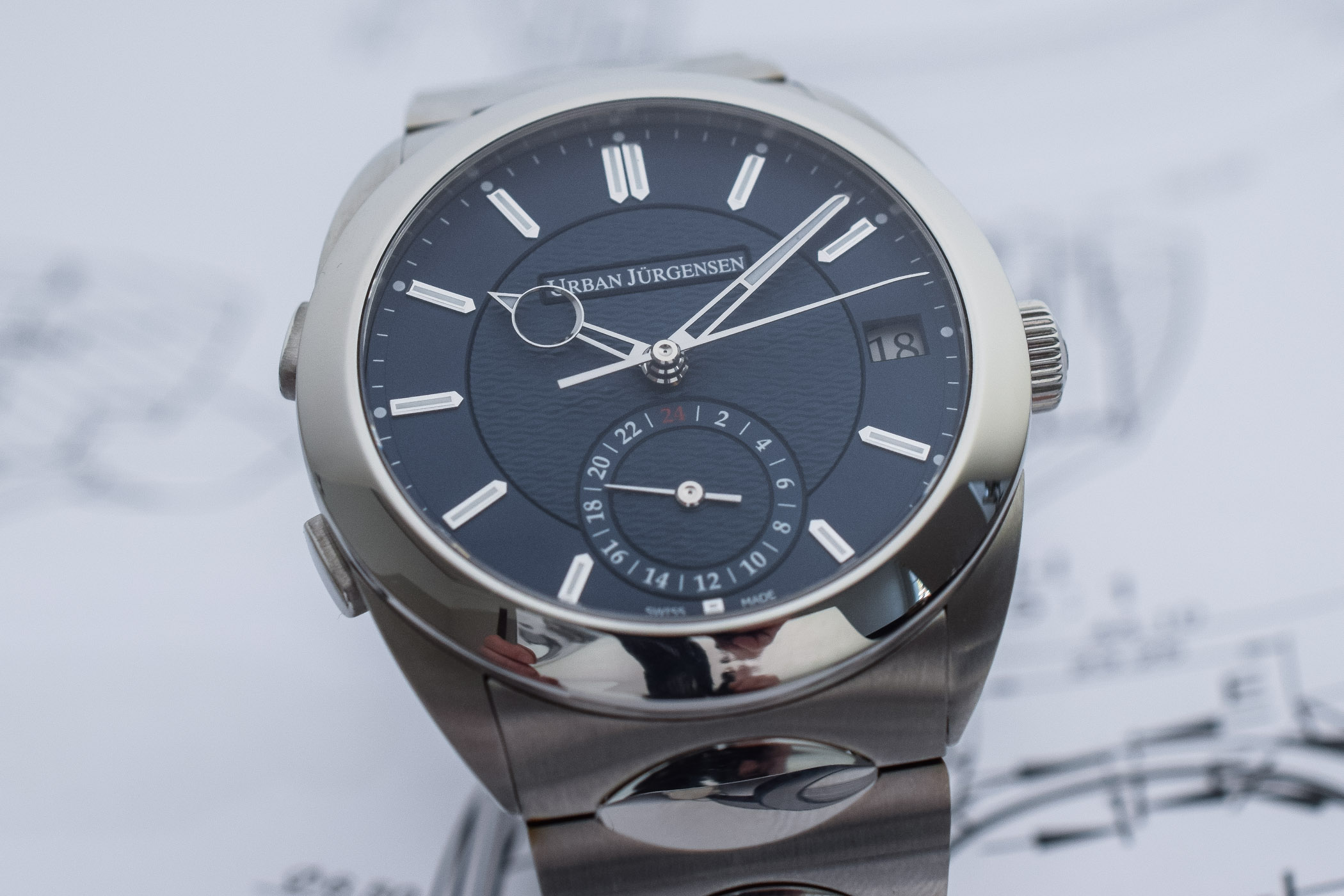 Urban Jurgensen First Luxury Sports Watch - Jurgensen One Collection - 9