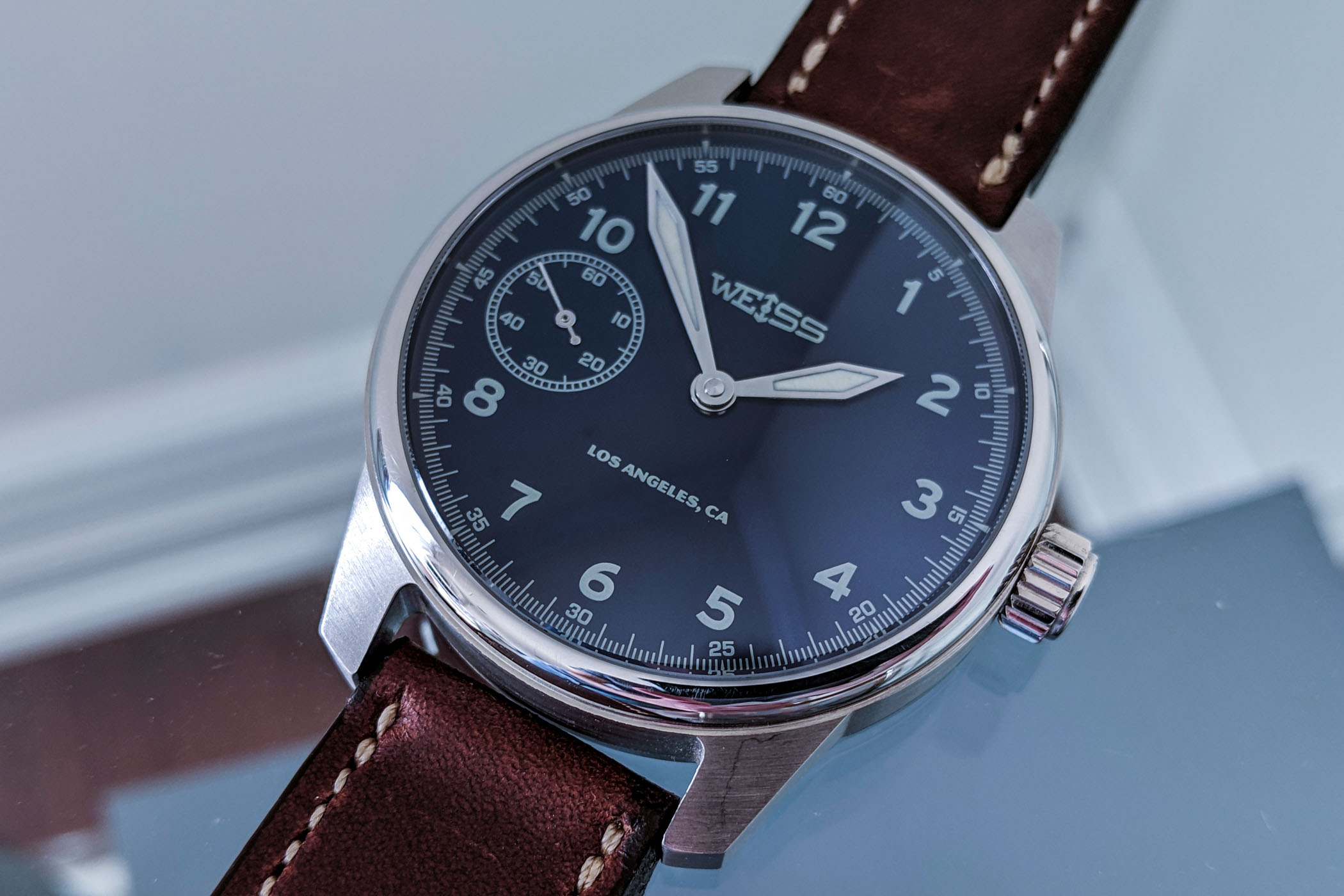 Weiss 42mm Limited American Issue Field Watch – American-Made Movement - 7