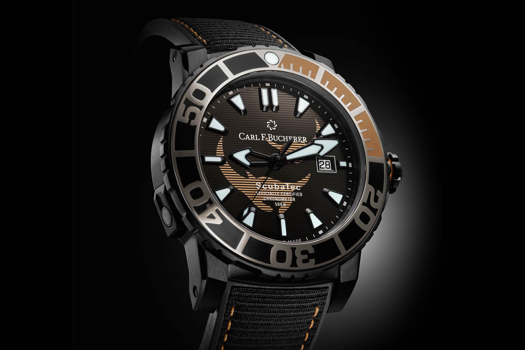 Carl F. Bucherer Patravi ScubaTec Black Manta Special Edition - Monochrome  Watches
