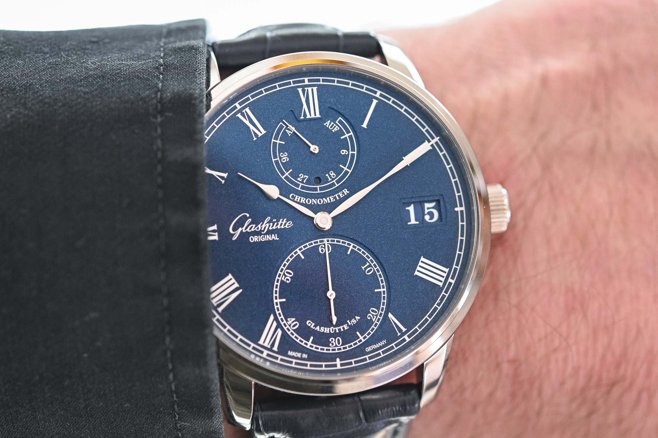 Glashutte Original Senator Chronometer Blue Dial White Gold - Review - 5