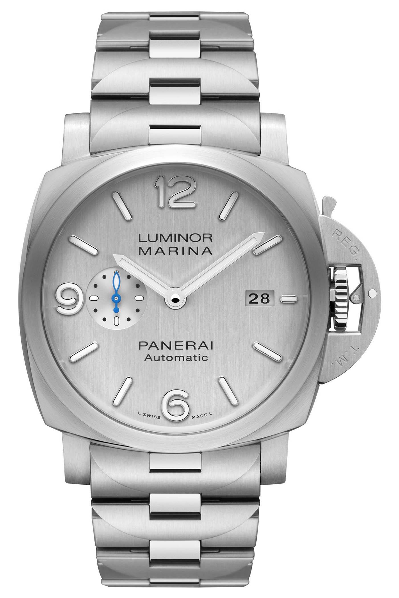 Panerai Luminor Marina Silver Dial - PAM00977 - PAM00978 - 6