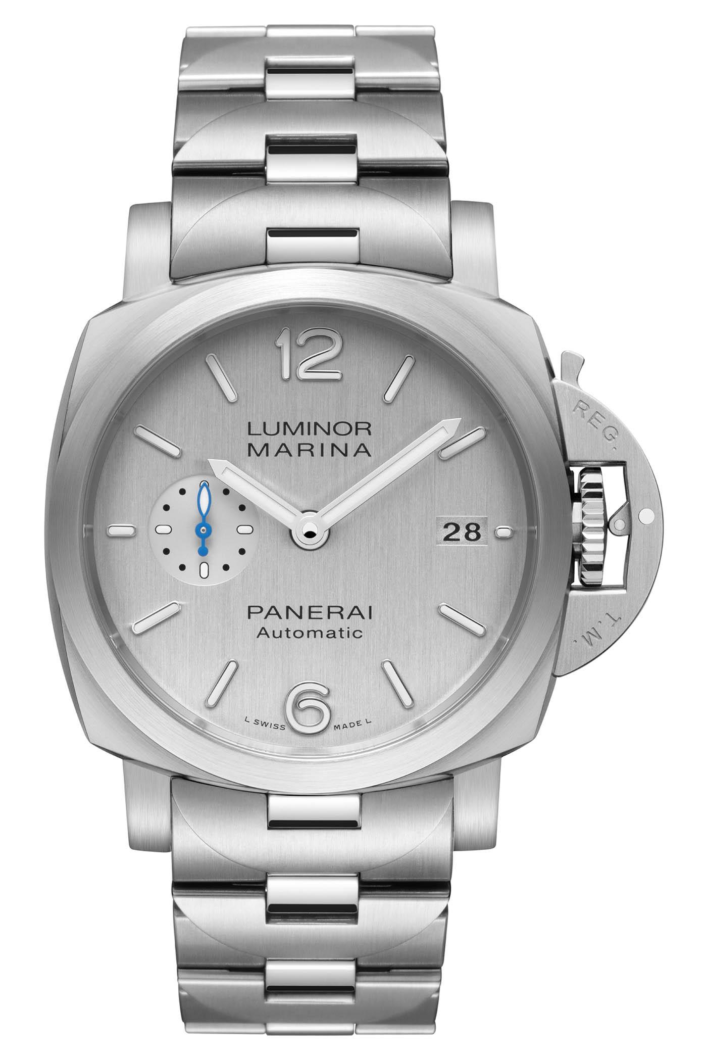 Panerai Luminor Marina Silver Dial - PAM00977 - PAM00978 - 7
