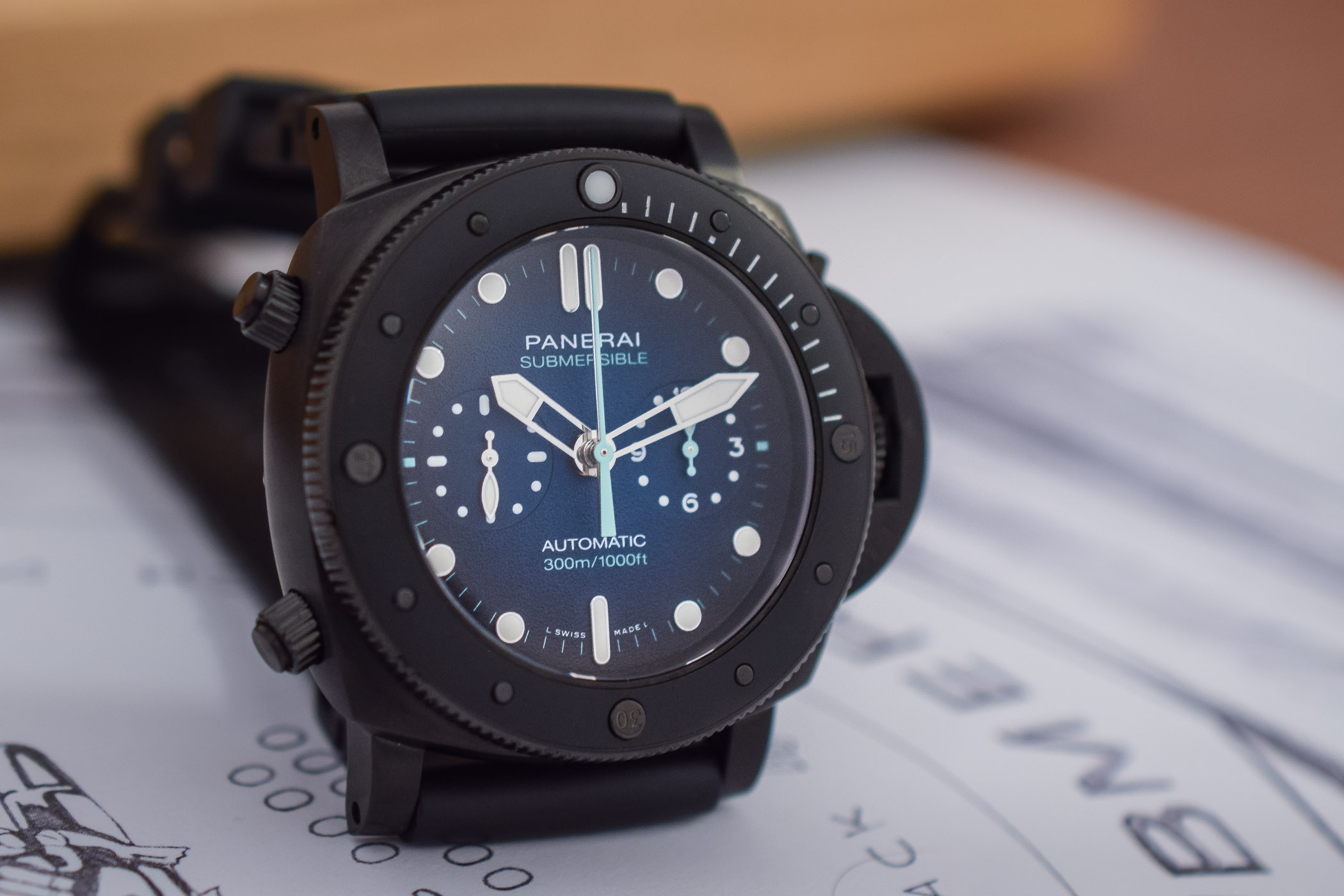 Panerai Submersible Chrono Guillaume Nery Edition PAM00983 - 8