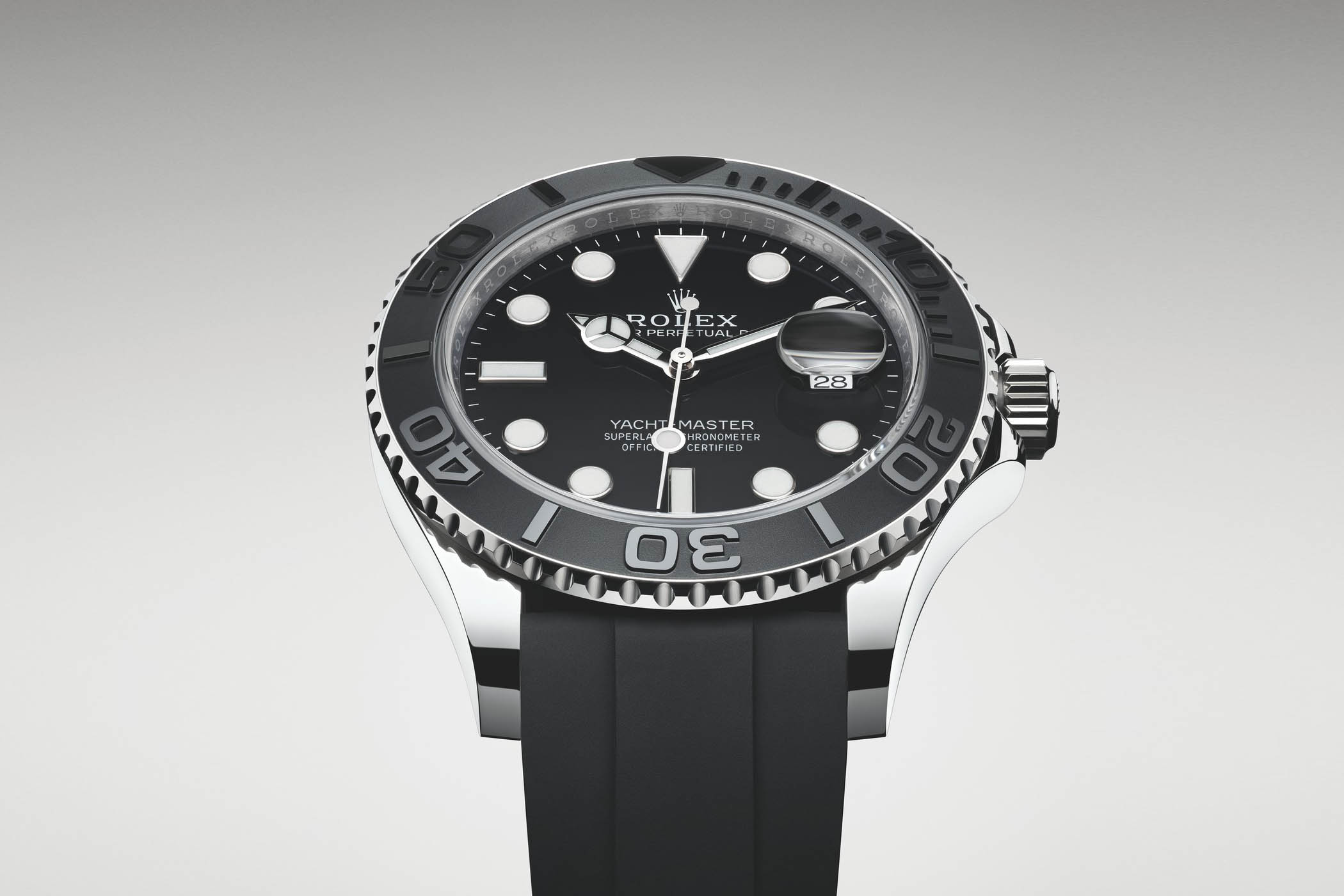 82f05434f Baselworld 2019 Rolex Yacht-Master 42 ref. 226659 – White Gold, Black Ceramic  Bezel and OysterFlex