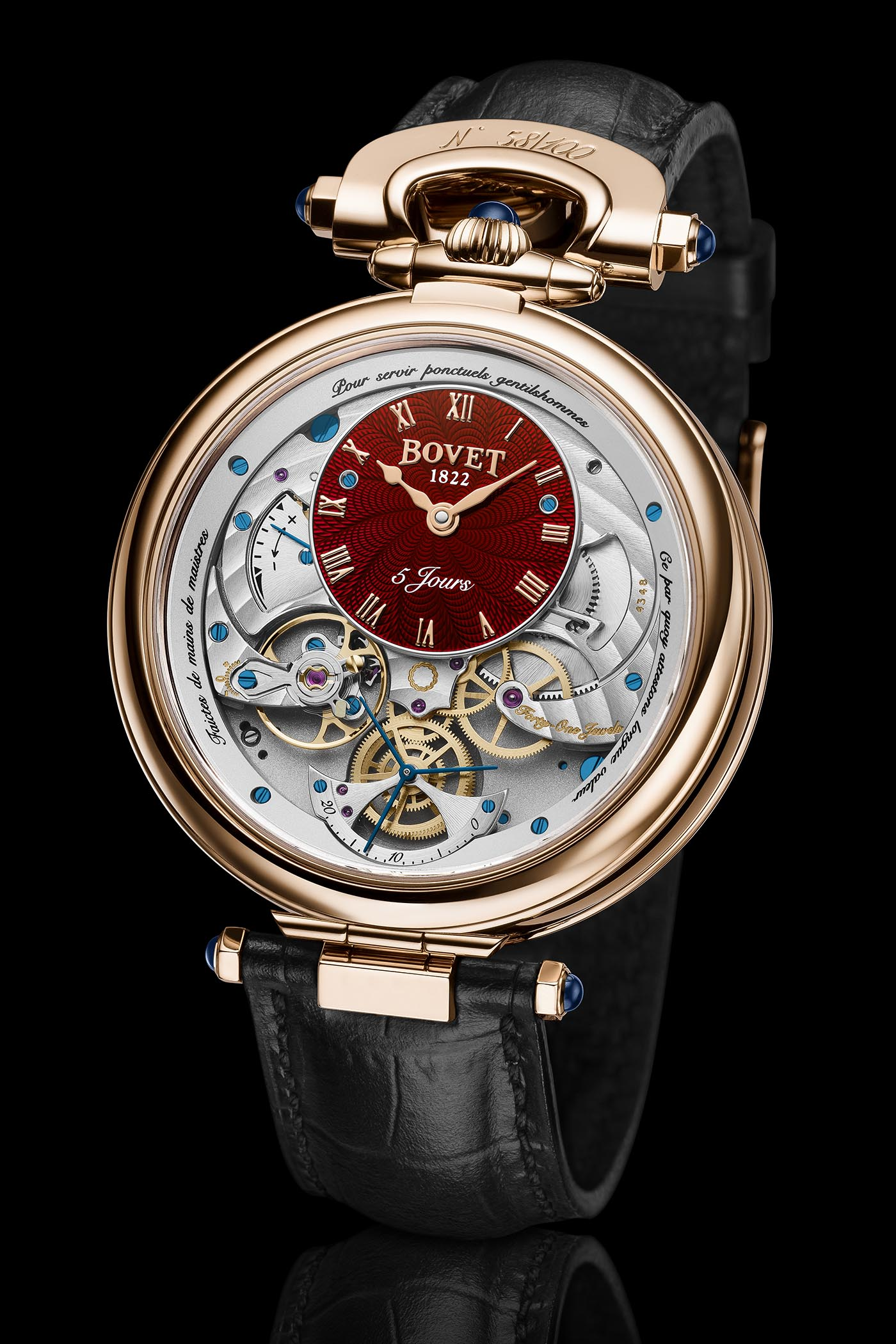 Bovet Virtuoso V Lavish Red Guilloche Dials - 5