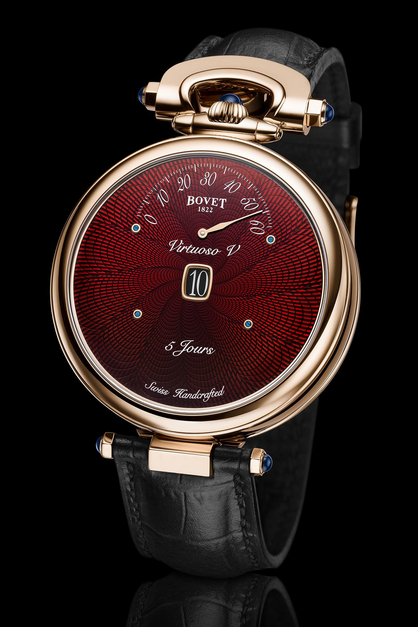 Bovet Virtuoso V Lavish Red Guilloche Dials - 6