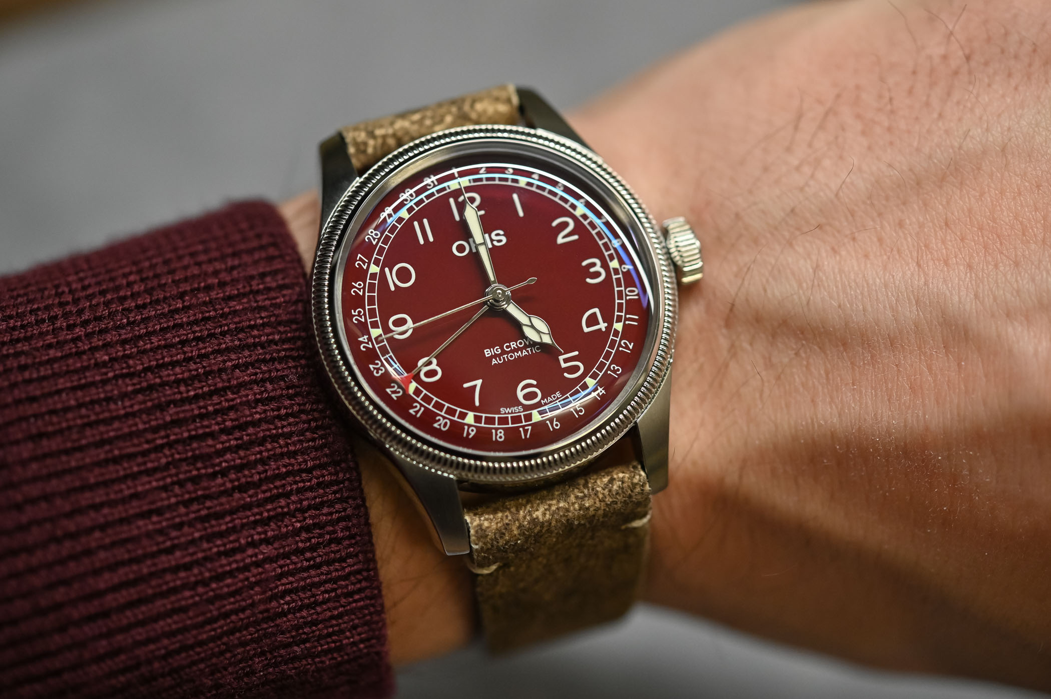 Oris Big Crown Pointer Date Red Dial - 3